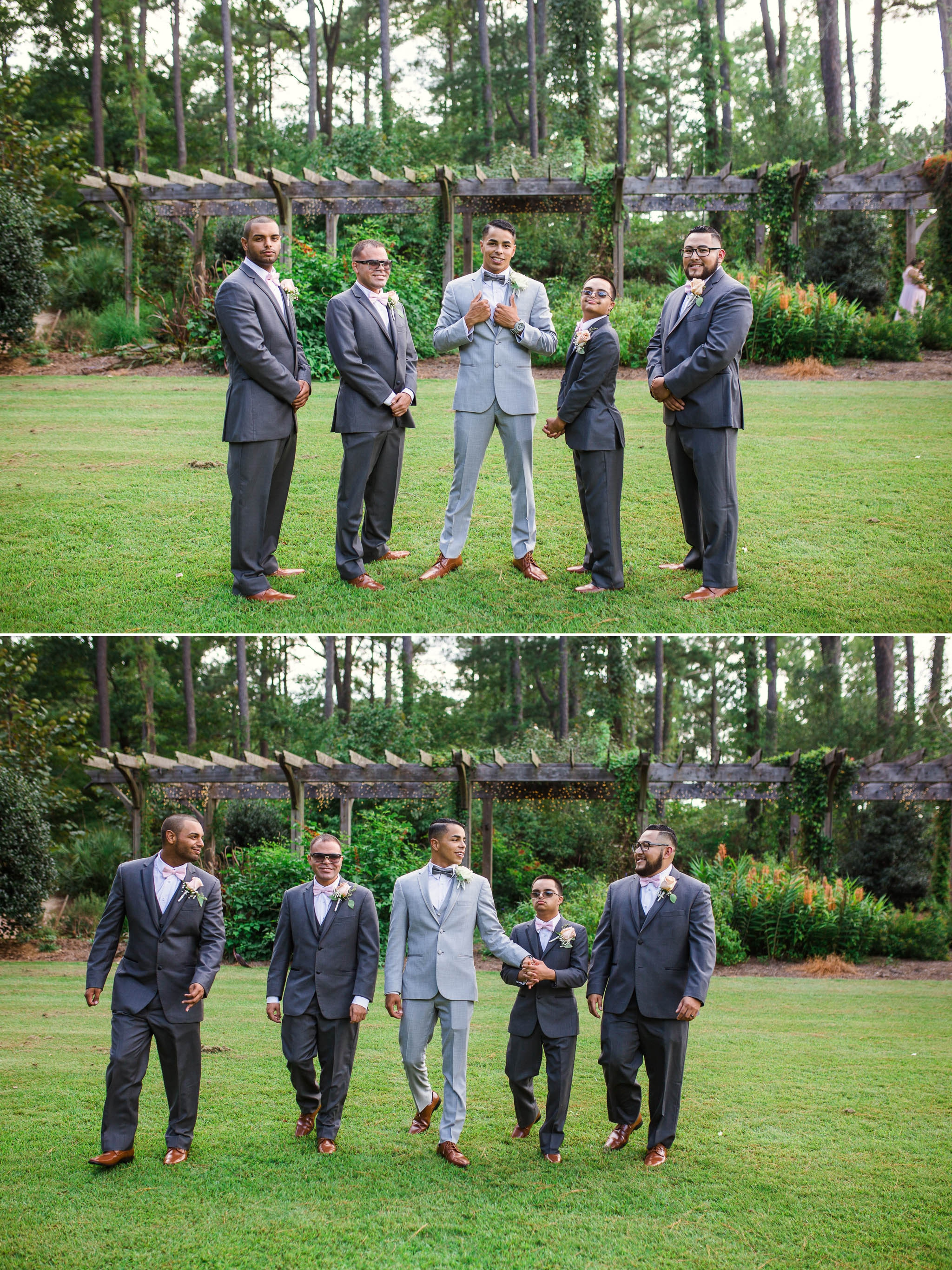 Groomsmen Portraits - Yansi + Eddie - Wedding at Cape Fear Botanical Garden - Fayetteville North Carolina Photographer