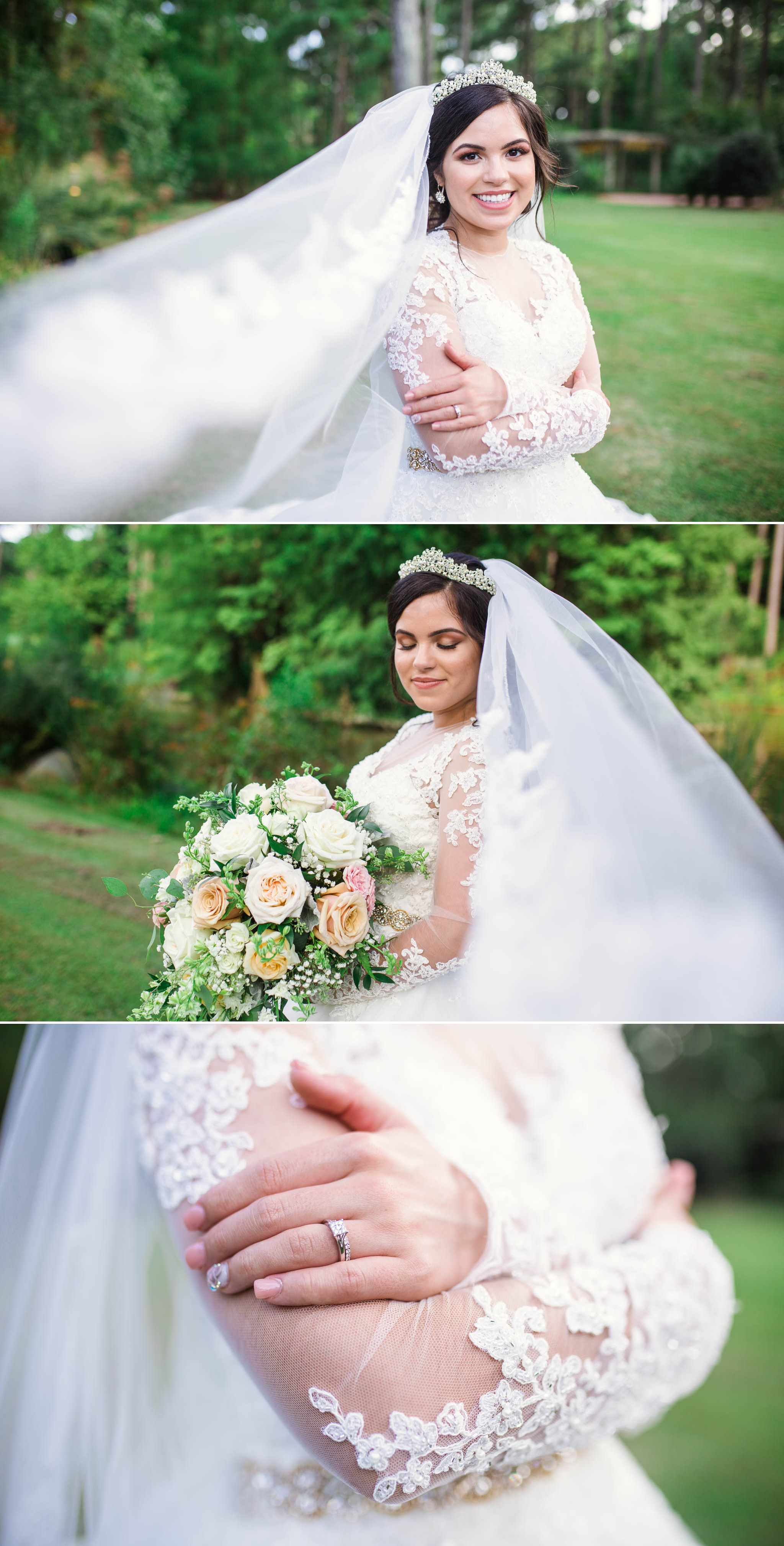 Bridal Portraits - Yansi + Eddie - Wedding at Cape Fear Botanical Garden - Fayetteville North Carolina Photographer