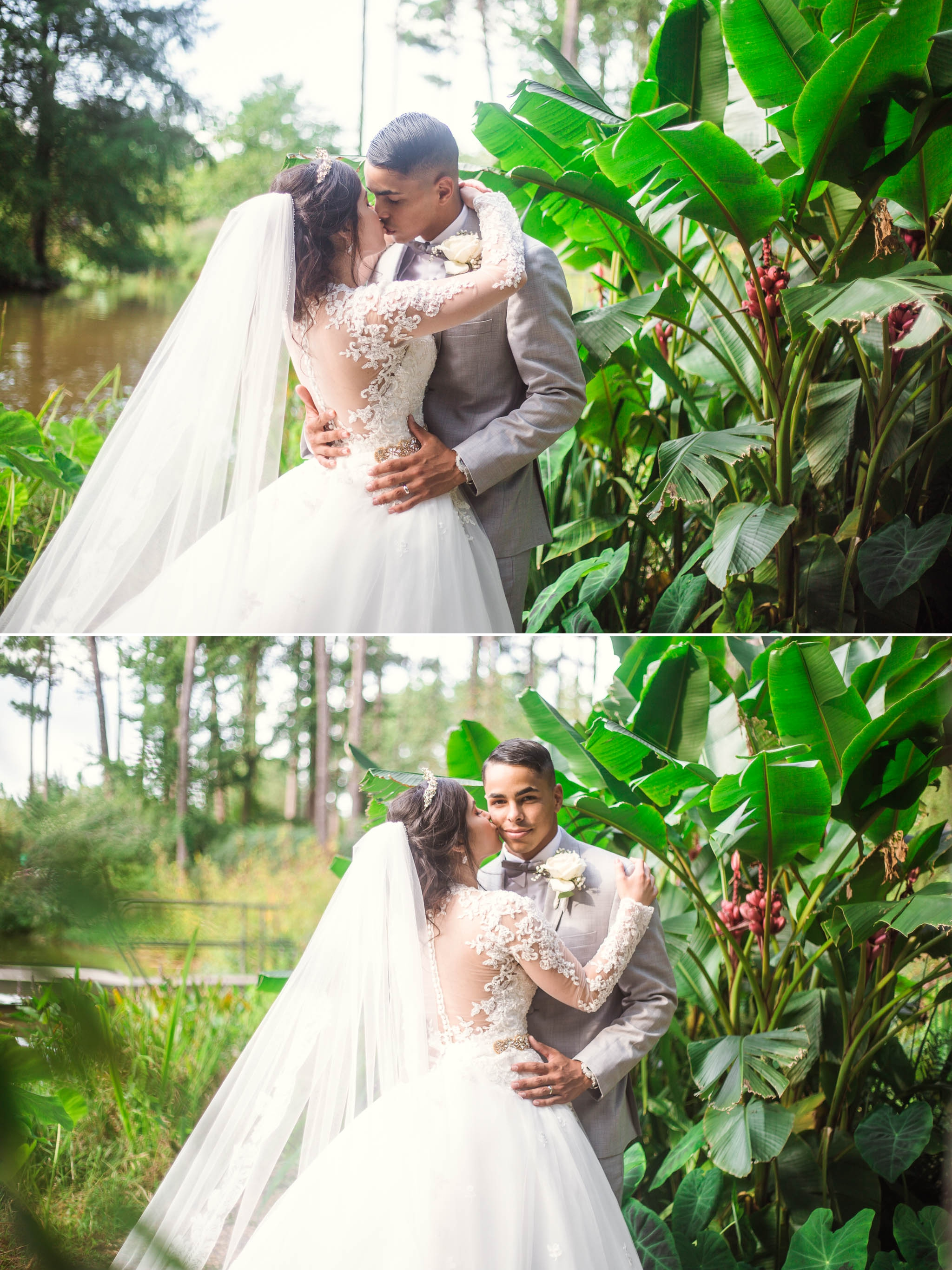 Portraits of Bride and Groom - Yansi + Eddie - Wedding at Cape Fear Botanical Garden - Fayetteville North Carolina Photographer