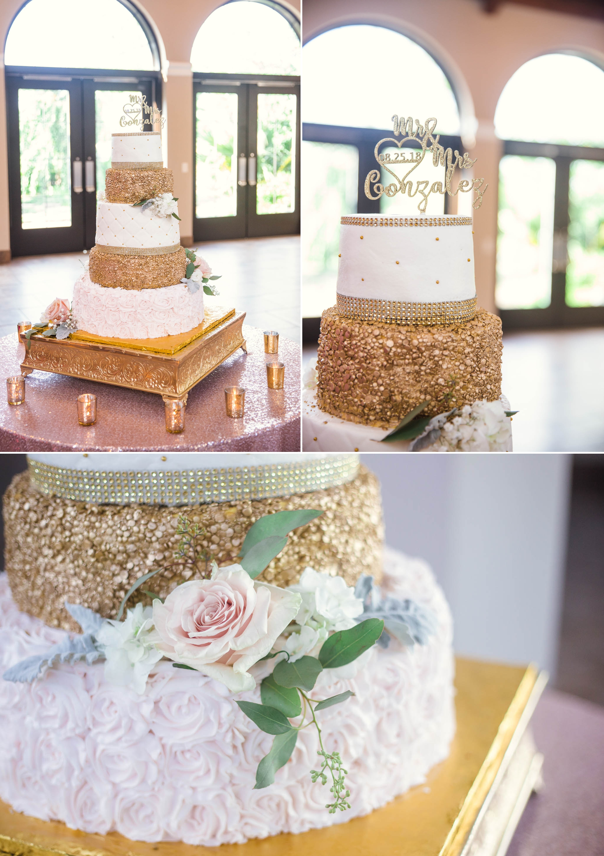 The Wedding Cake - Yansi + Eddie - Wedding at Cape Fear Botanical Garden - Fayetteville North Carolina Photographer