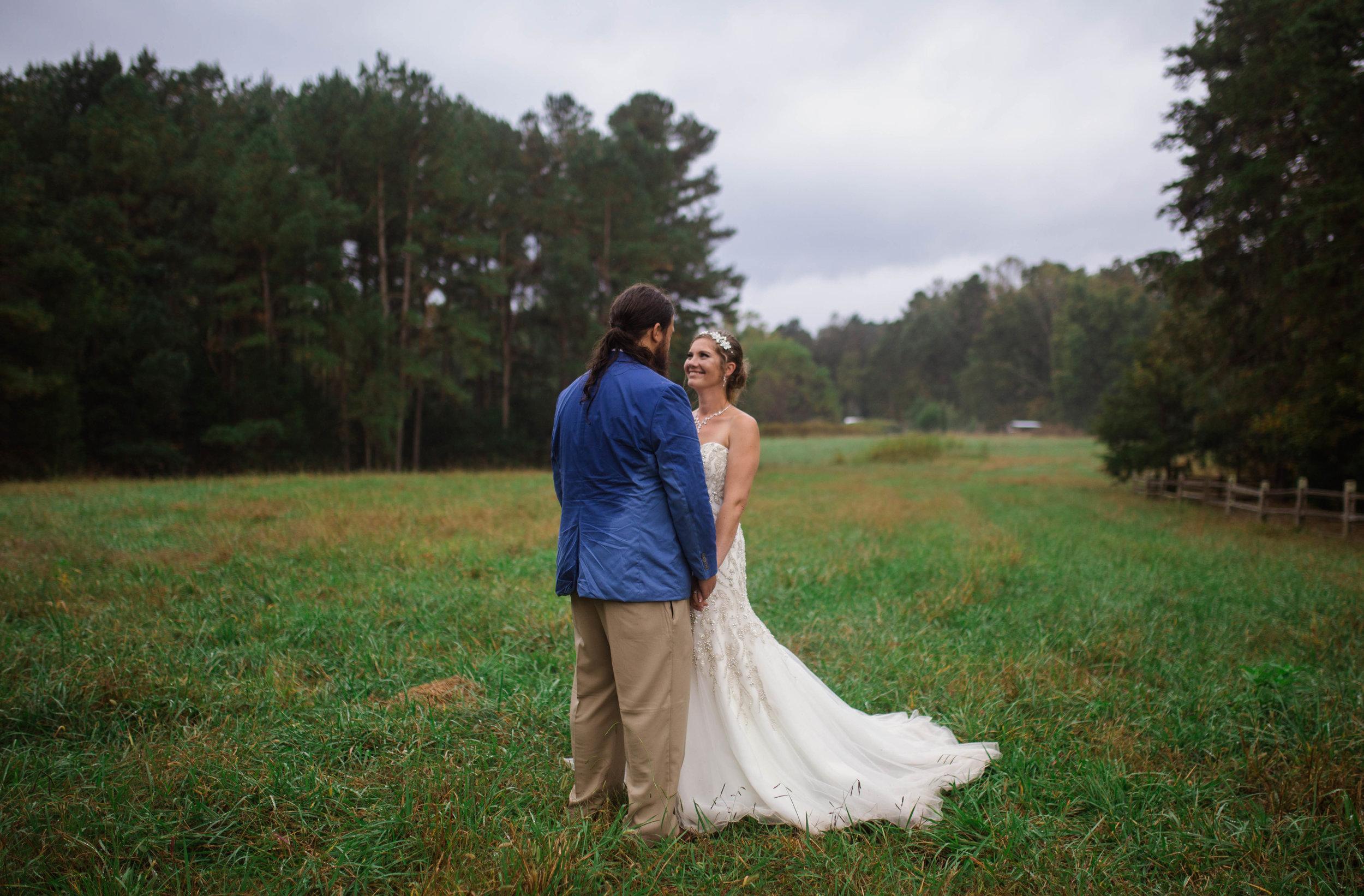 Rainy Wedding at Timberlake Earth Sanctuary in North Carolina