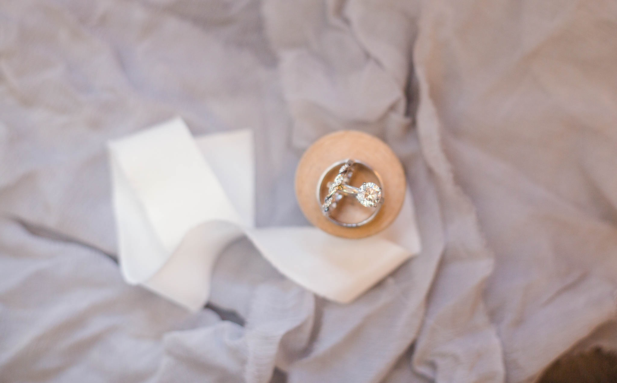 Wedding Ring Shot - Dona + Doug - MacGregor Downs Country Club in Cary, NC - Raleigh Wedding Photographer