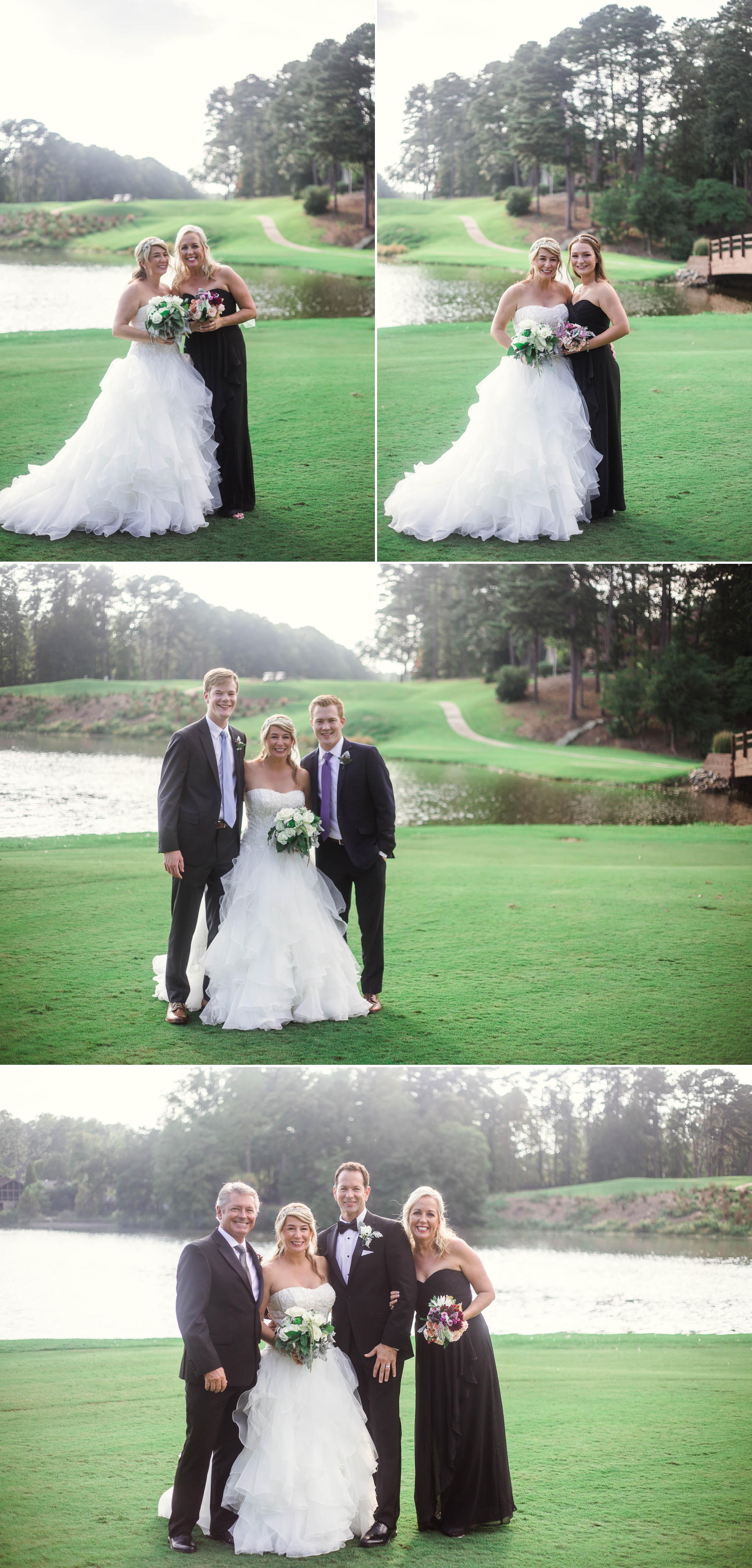 Wedding Party - Dona + Doug - MacGregor Downs Country Club in Cary, NC - Raleigh Wedding Photographer