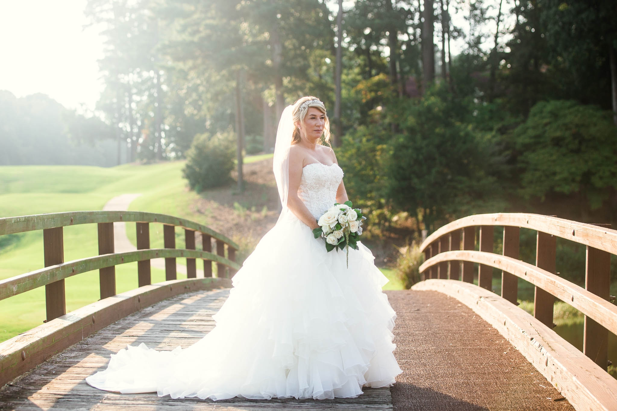 Bridal Portrait - Dona + Doug - MacGregor Downs Country Club in Cary, NC - Raleigh Wedding Photographer