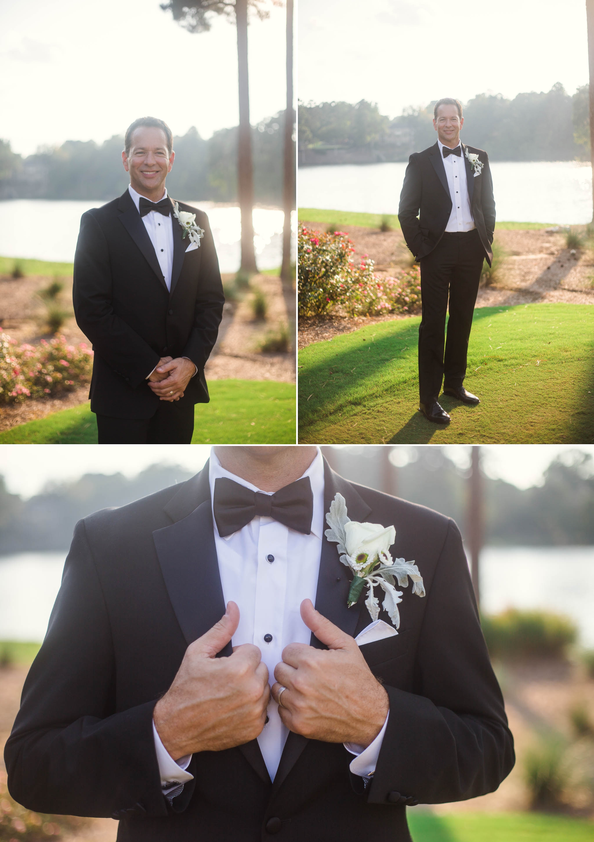 Groom Portraits - Dona + Doug - MacGregor Downs Country Club in Cary, NC - Raleigh Wedding Photographer