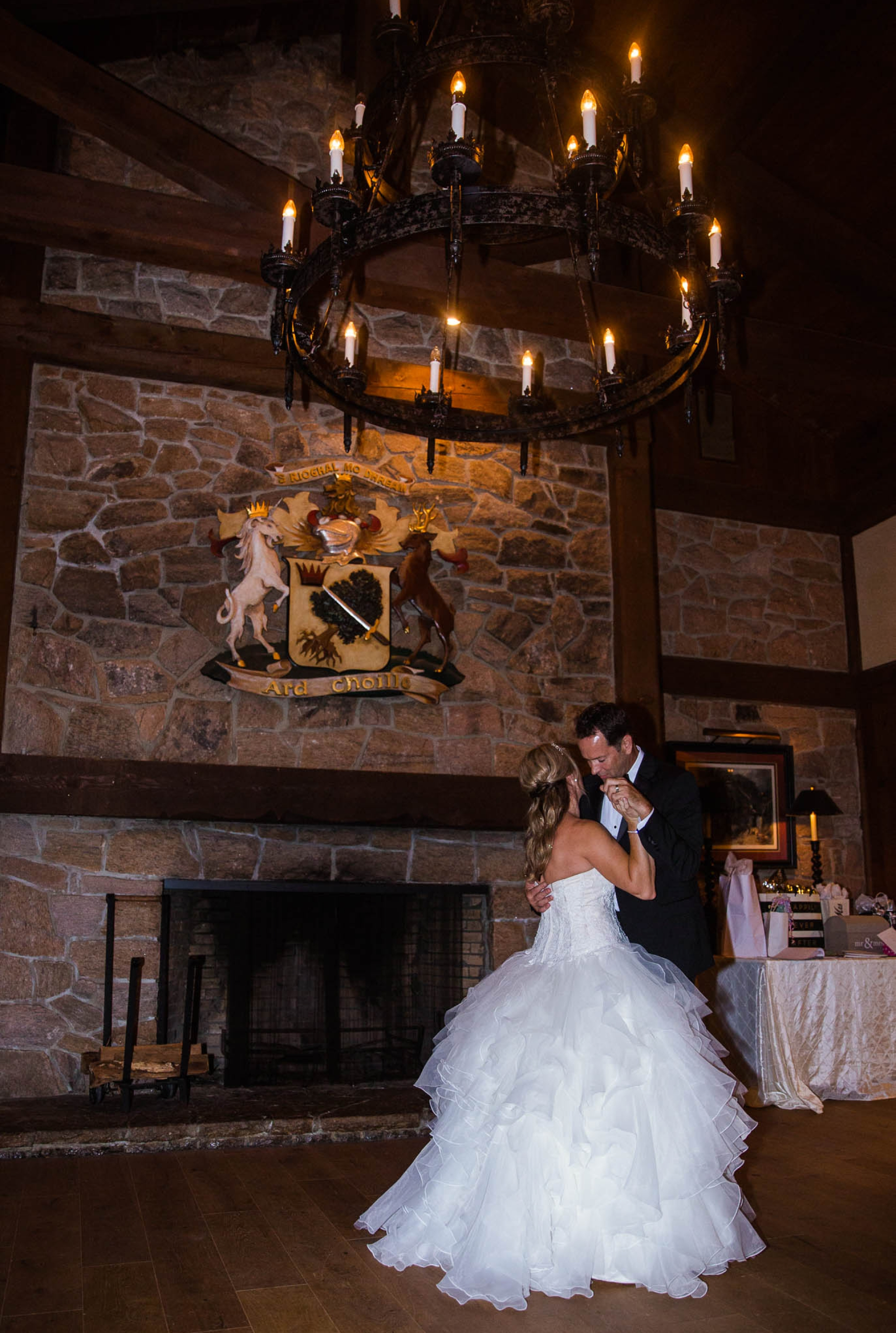 First Dance between bride and groom - Dona + Doug - MacGregor Downs Country Club in Cary, NC - Raleigh Wedding Photographer
