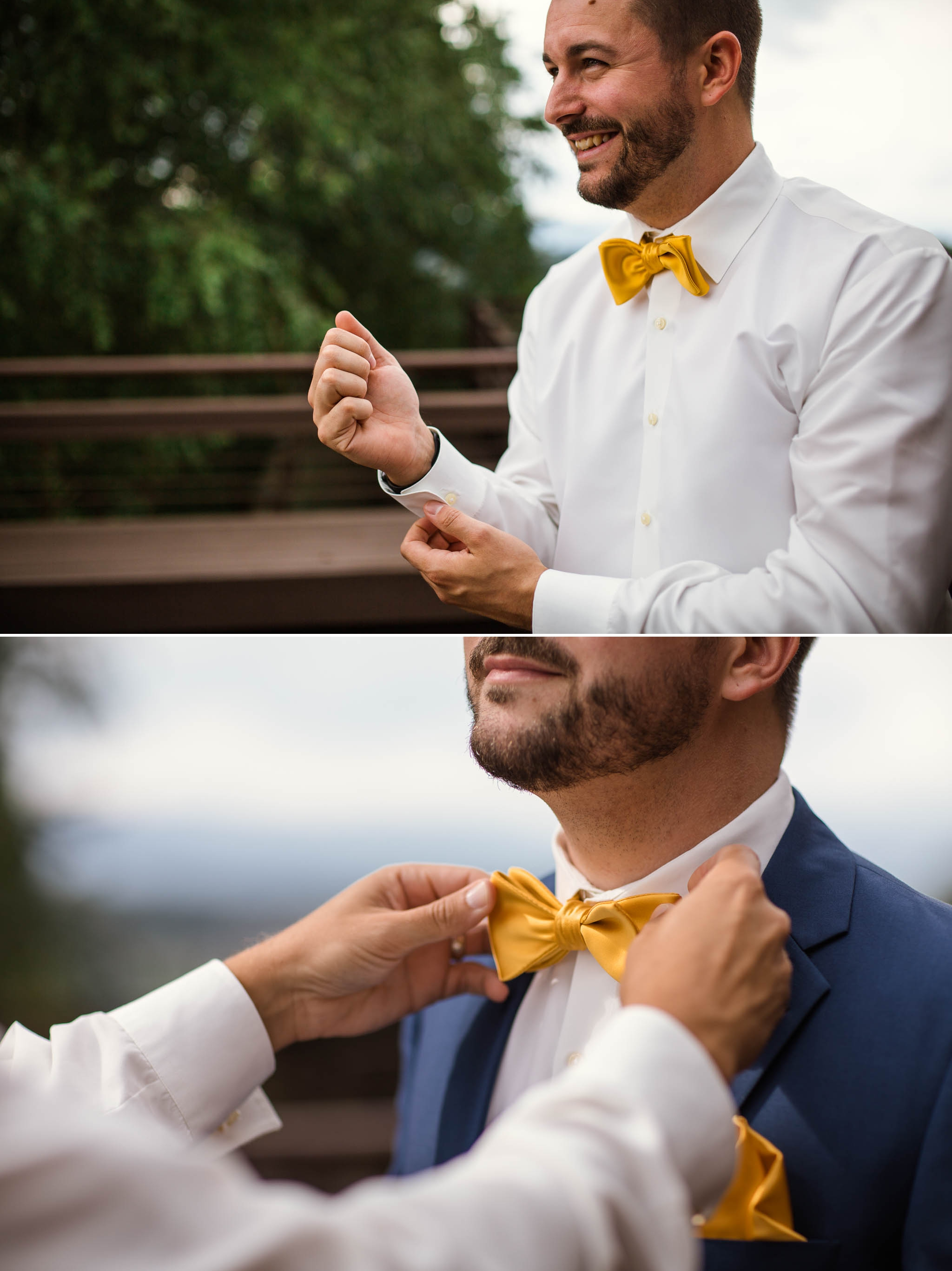 Groom getting ready - Meredith + Jason - The Crest Center and Pavilion in Asheville, NC - Raleigh Wedding Photographer