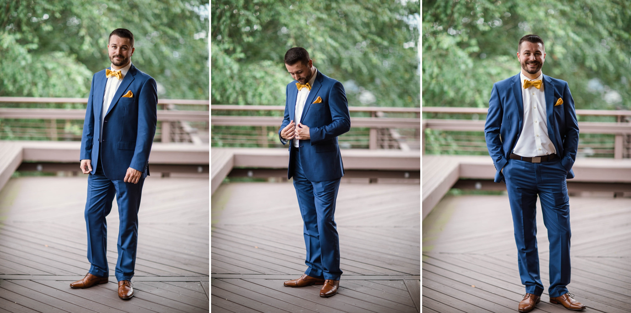 Portraits of the groom - Meredith + Jason - The Crest Center and Pavilion in Asheville, NC - Raleigh Wedding Photographer