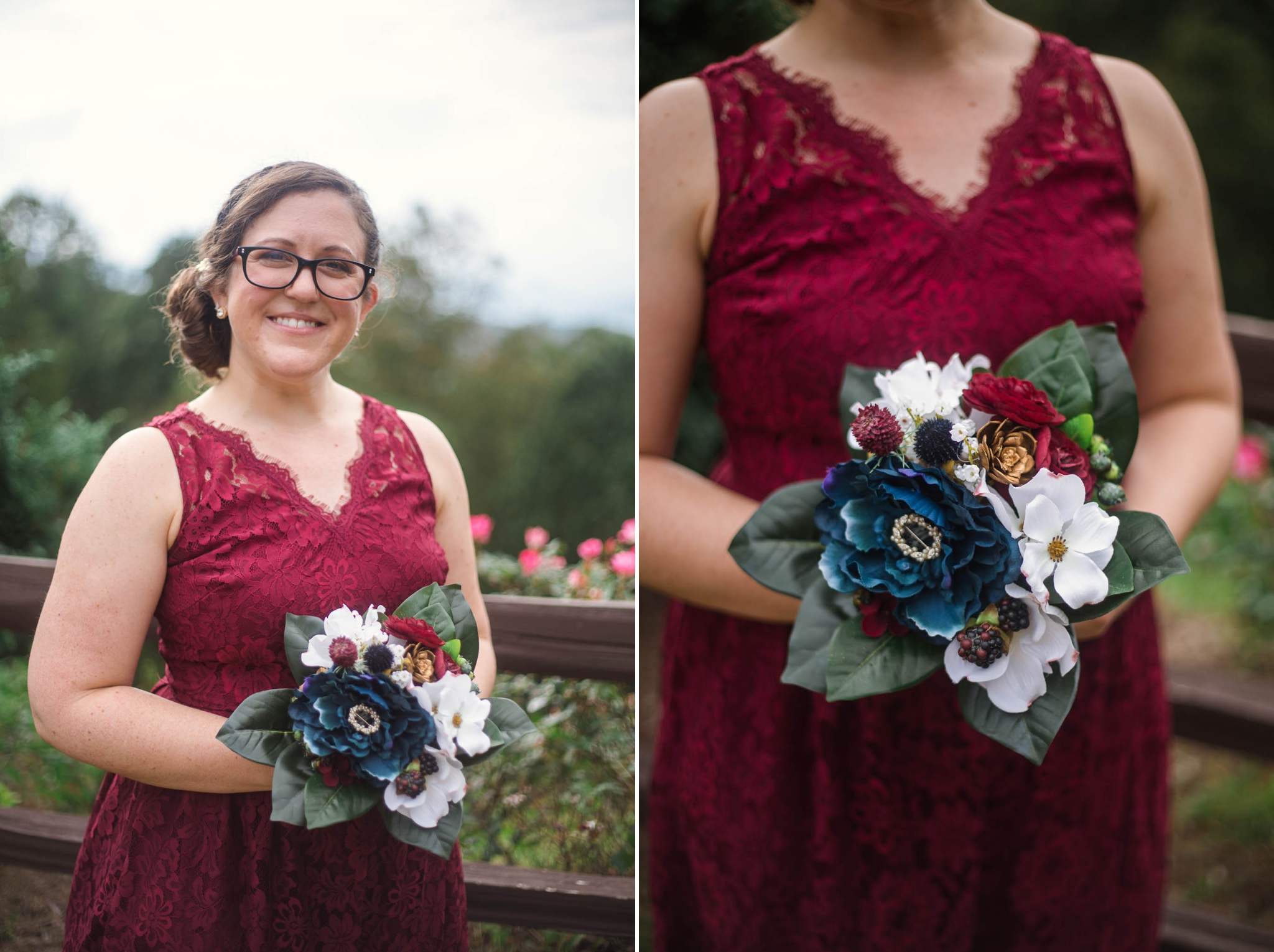 Portrait of the Bridesmaids - Meredith + Jason - The Crest Center and Pavilion in Asheville, NC - Raleigh Wedding Photographer