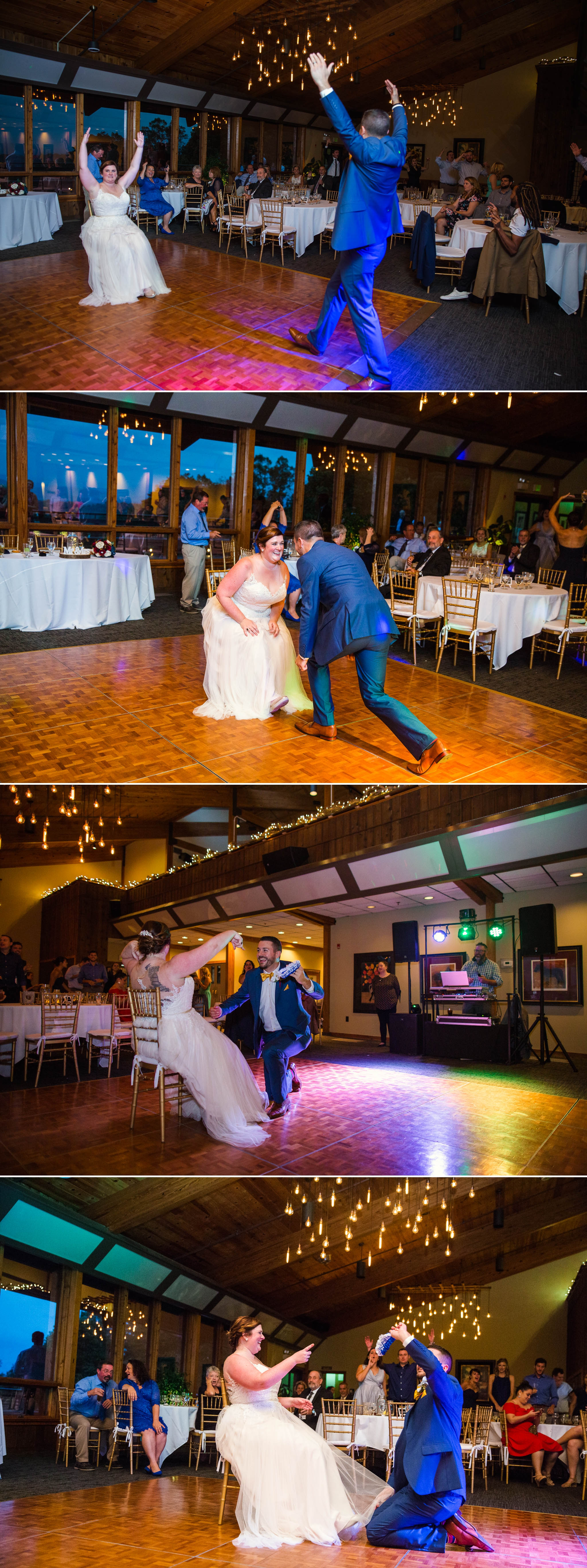 Removal of the Garter - Meredith + Jason - The Crest Center and Pavilion in Asheville, NC - Raleigh Wedding Photographer