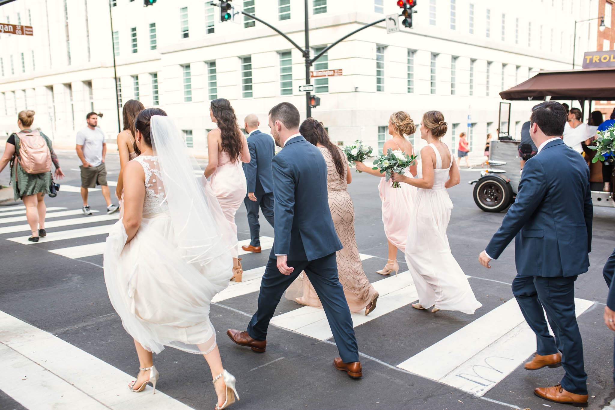 The wedding party downtown raleigh - Clare + Wallace - The Jiddy Space - Raleigh North Carolina Wedding Photographer