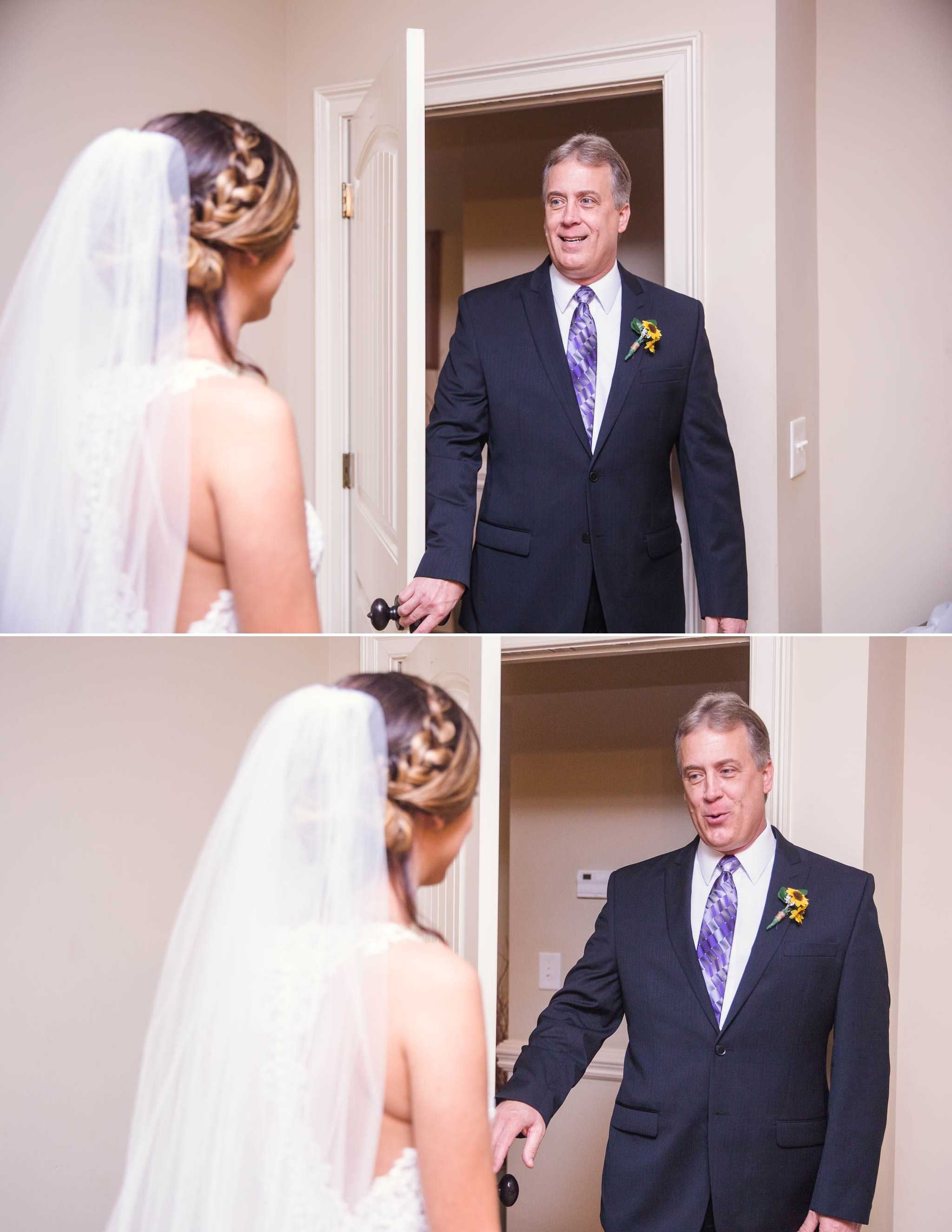 First Look with her Dad - Brittany + Greg - The Groomes Place - Charlotte, NC Wedding Photographer