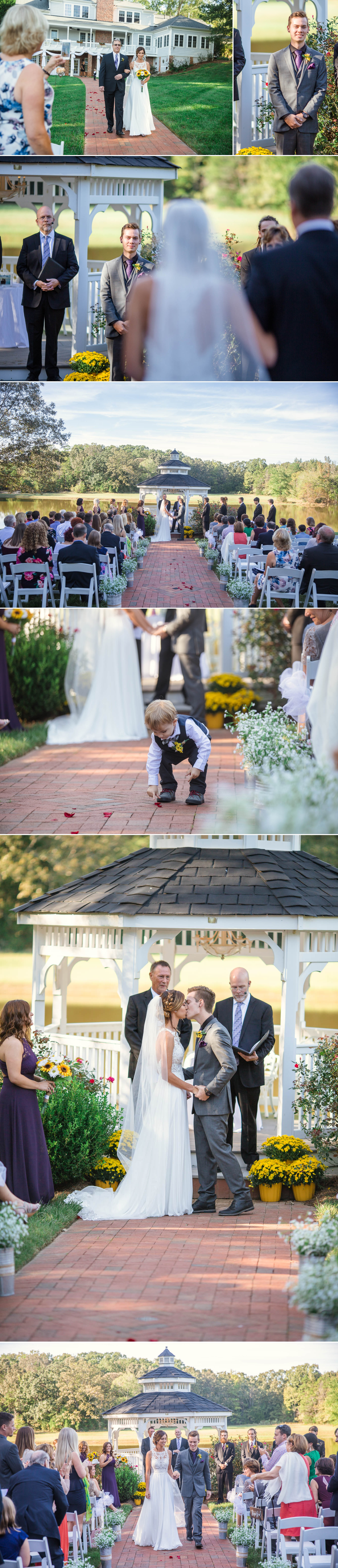 Wedding Ceremony - Brittany + Greg - The Groomes Place - Charlotte, NC Wedding Photographer