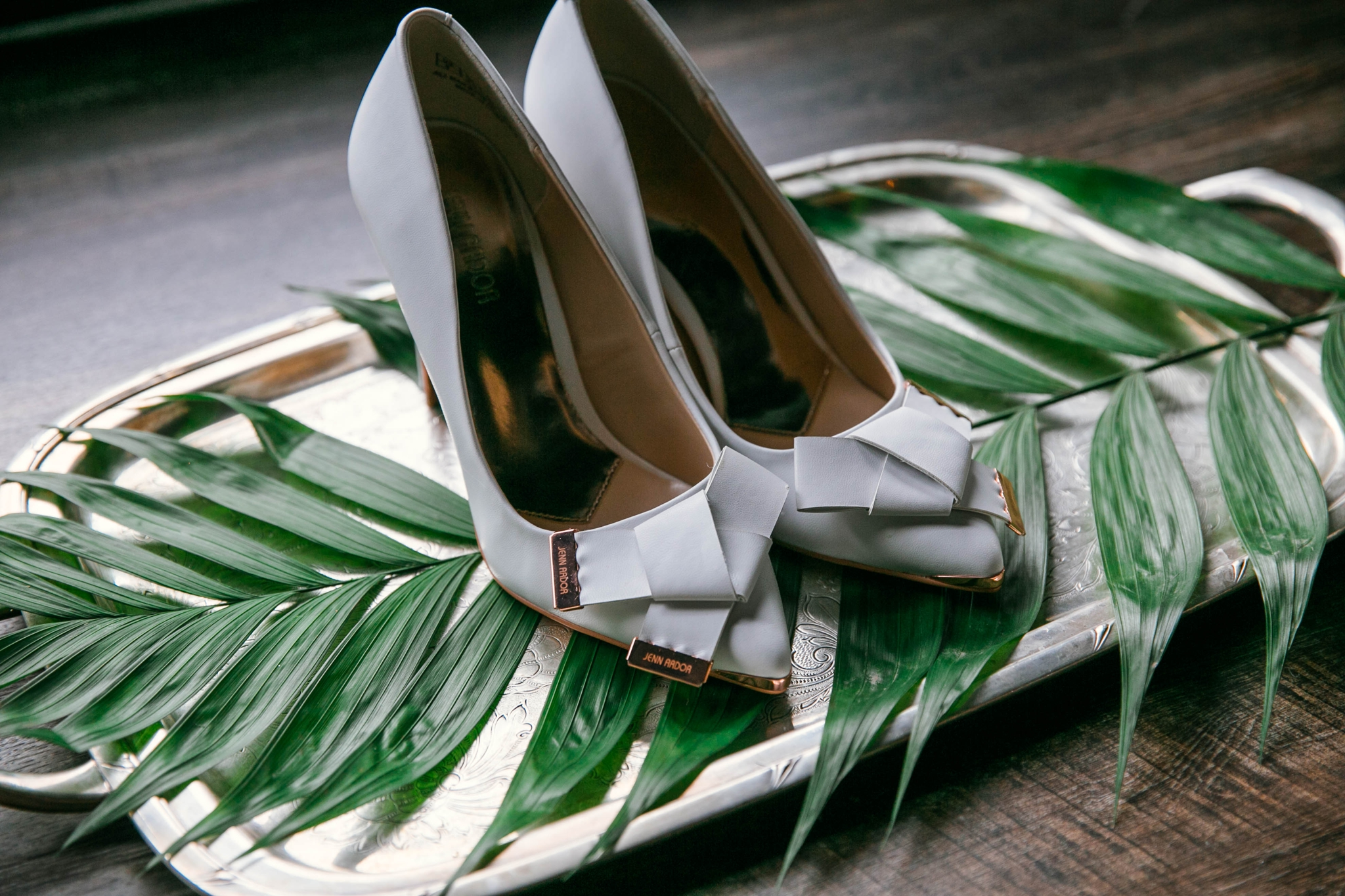 Detail shot of Brides Wedding Shoe pumps in light blue - Black Love boho tropical wedding inspiration by Honolulu, Oahu, Hawaii Photographer