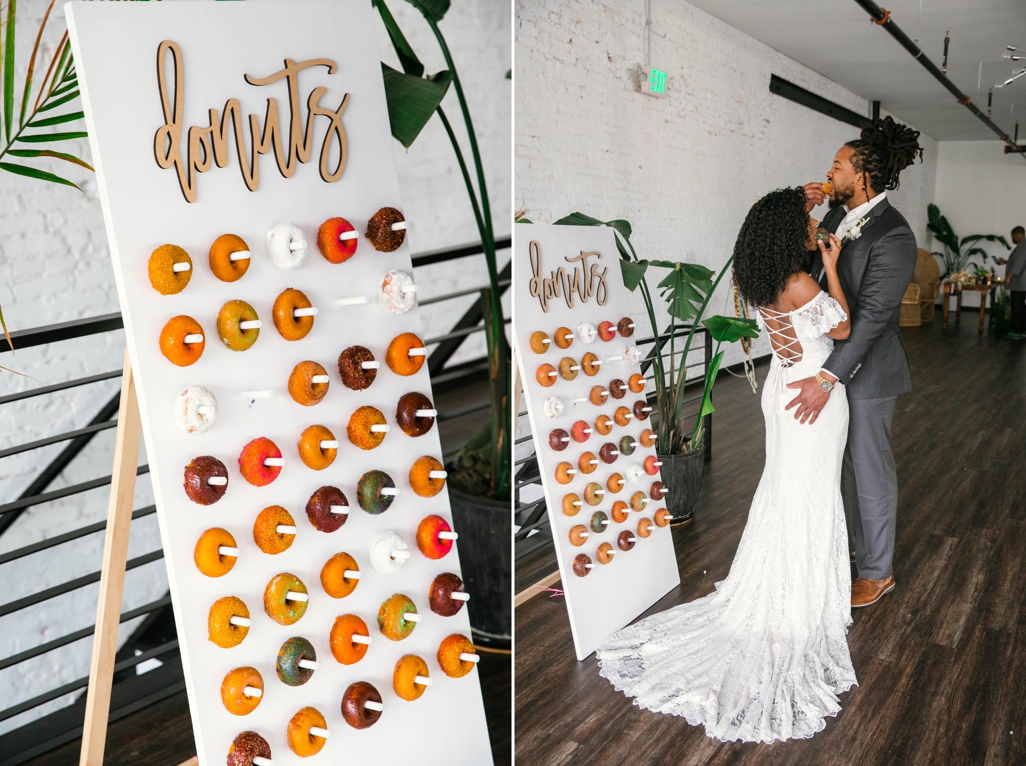 Donut Wall - Wedding Desert alternatives - Tropical Wedding Inspiration - Oahu Hawaii Photographer