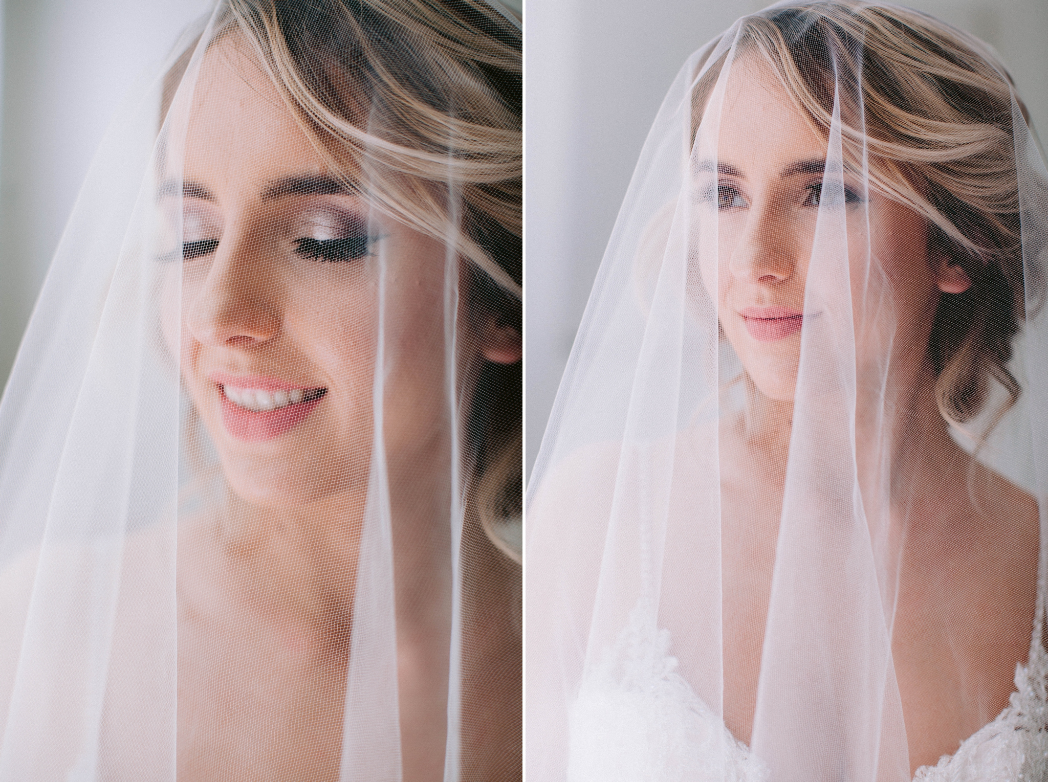 beauty shot - Indoor Natural Light Bridal Portraits by a window with a white backdrop - classic bride with soft drop veil over her face - wedding gown by Stella York - Honolulu, Oahu, Hawaii Wedding Photographer