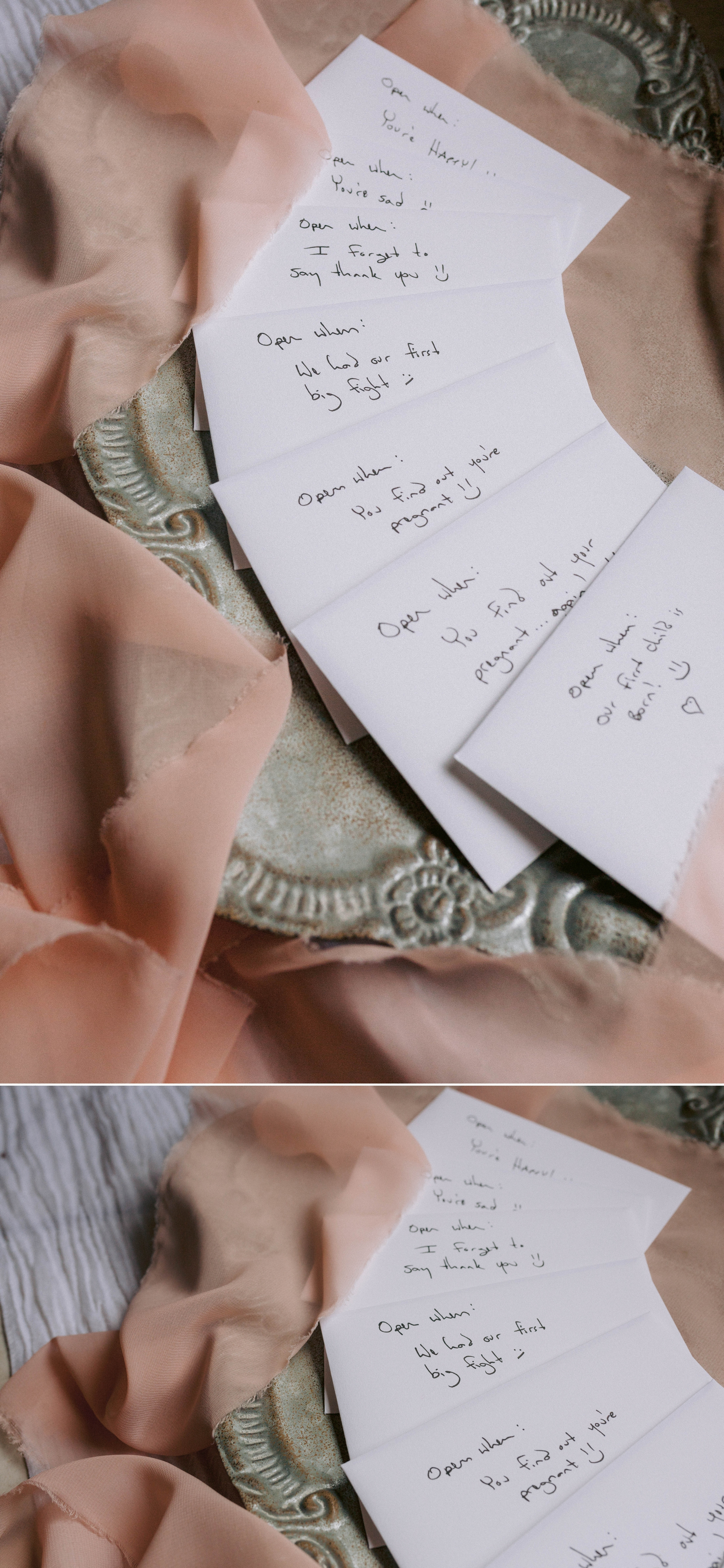 letters from the bride to the groom to read on different occasions as pre wedding gift - Honolulu Oahu Hawaii Wedding Photographer