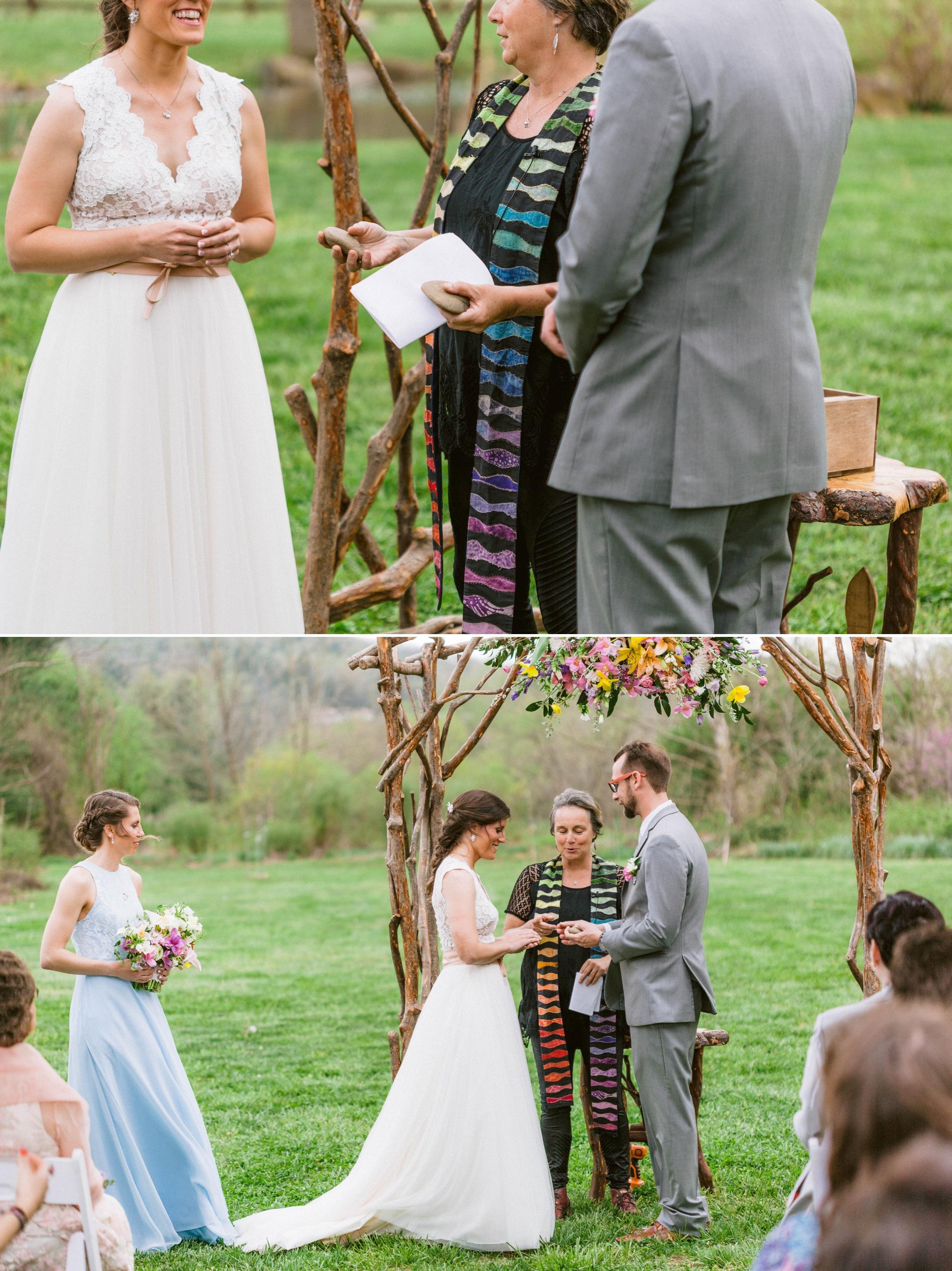 outdoor boho ceremony - Honolulu Oahu Hawaii Wedding Photographer