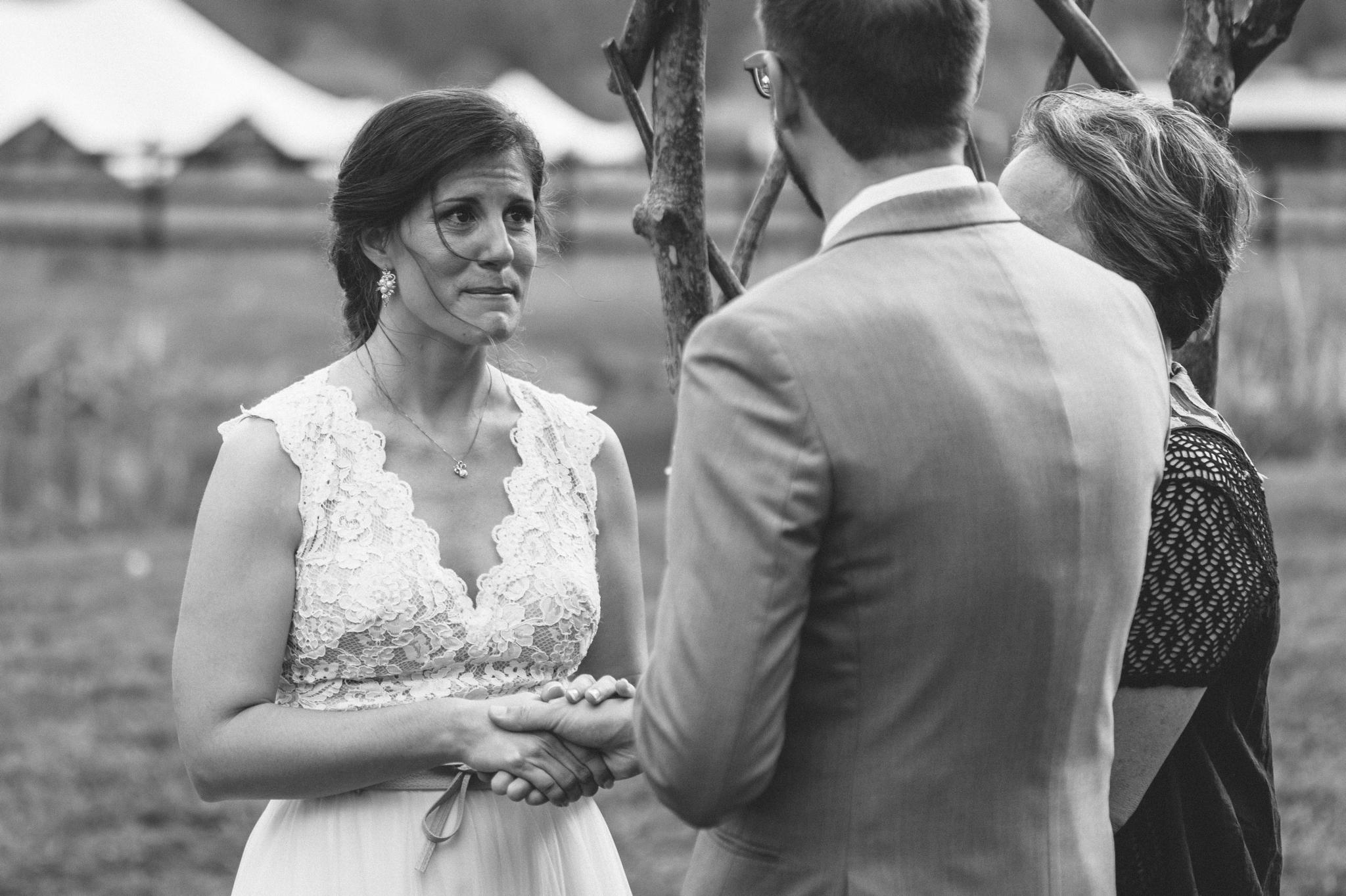 emotional outdoor boho ceremony - Honolulu Oahu Hawaii Wedding Photographer
