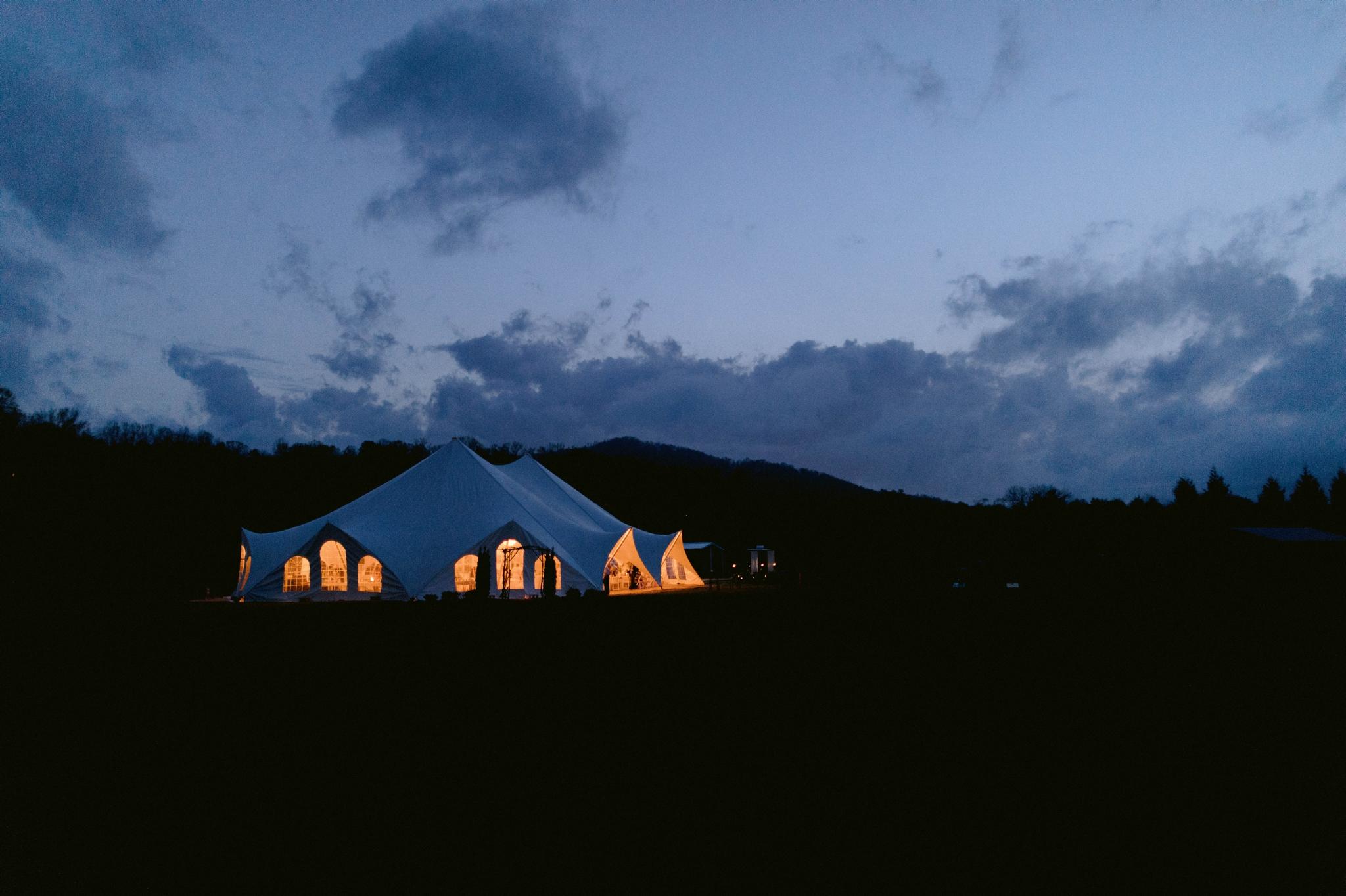 reception tent at night - Honolulu Oahu Hawaii Wedding Photographer