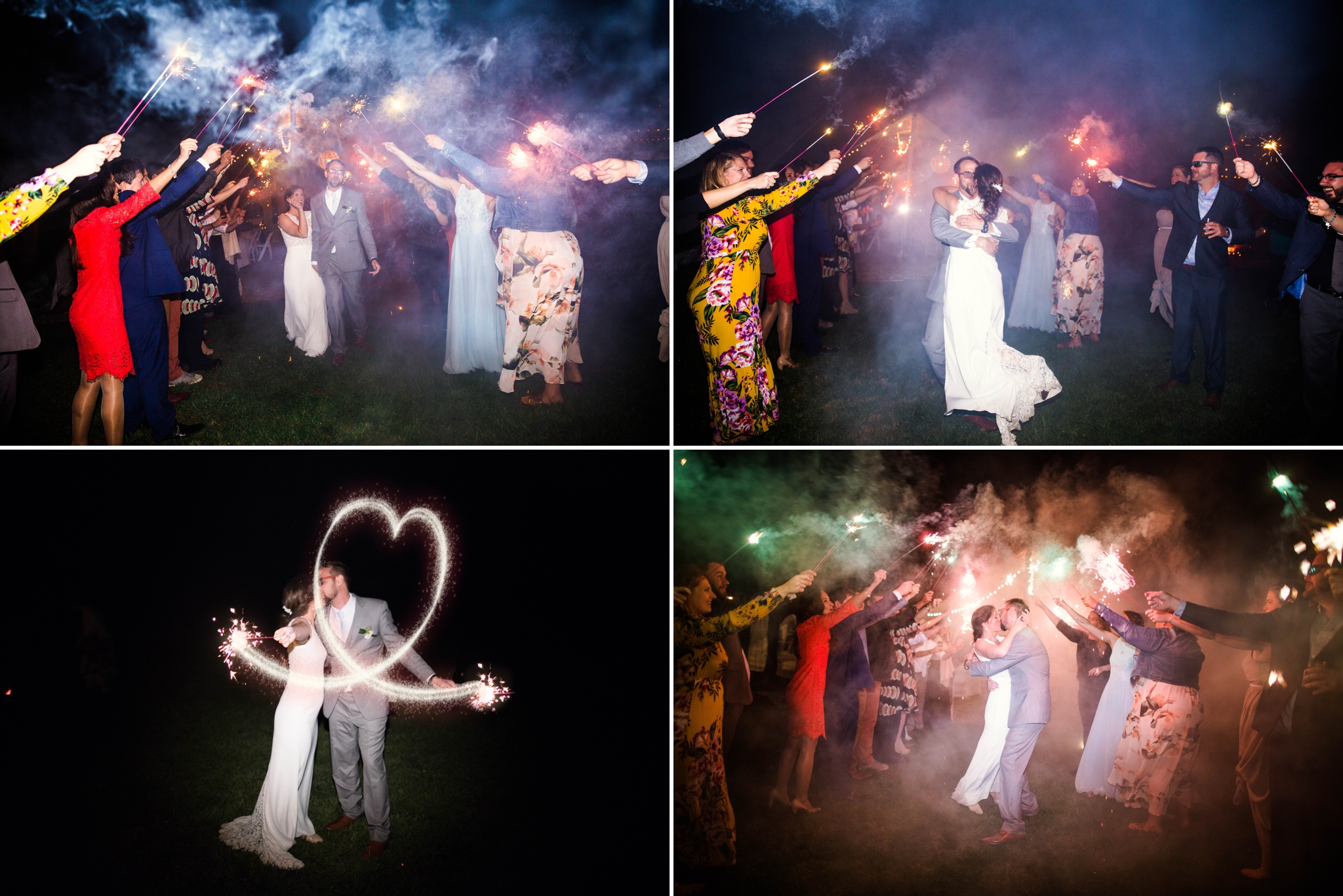 sparkler exit - Honolulu Oahu Hawaii Wedding Photographer