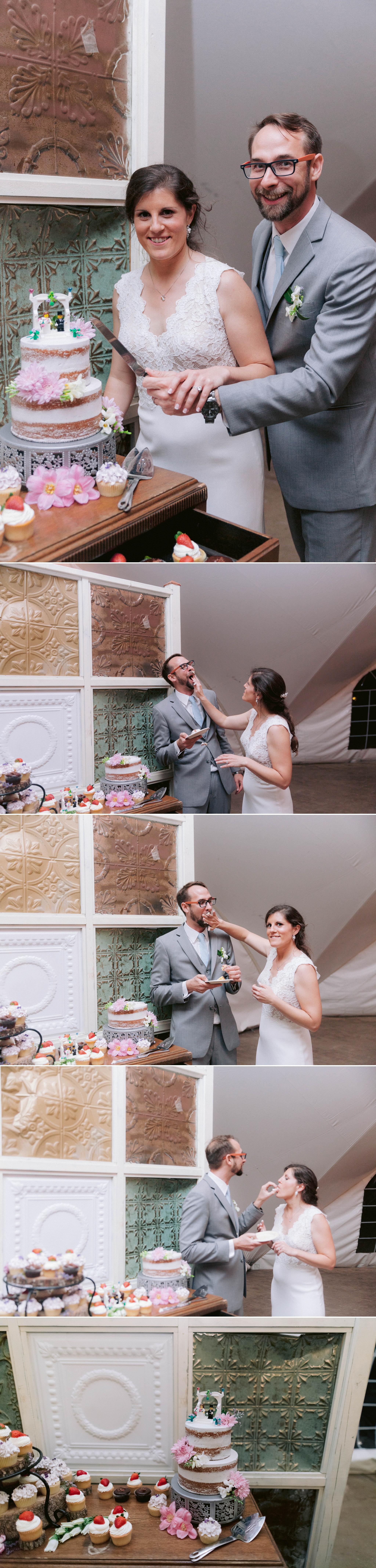 cake cutting - Honolulu Oahu Hawaii Wedding Photographer