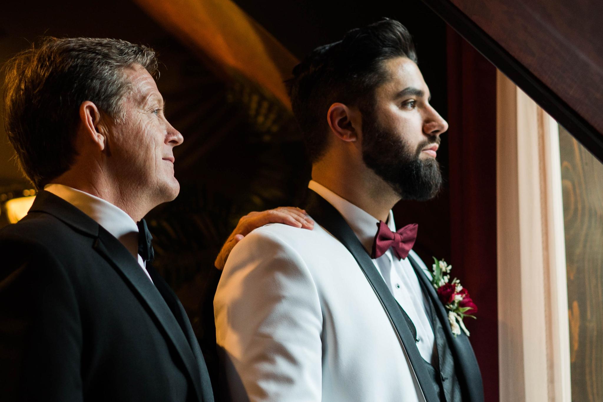 groom with his father in law portrait - Honolulu Oahu Hawaii Wedding Photographer