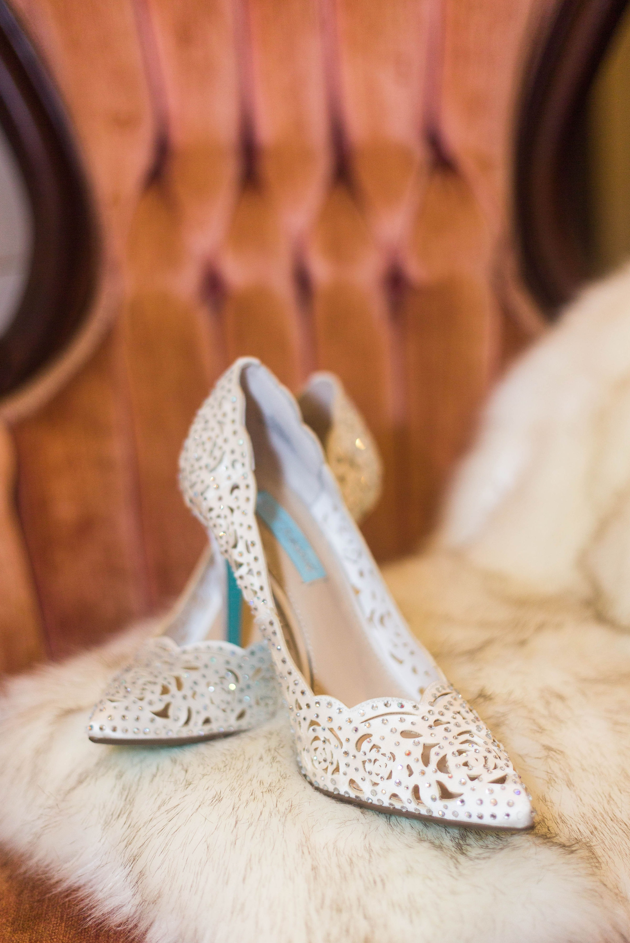 Betsey Johnson blue bridal shoes - - Honolulu Oahu Hawaii Wedding Photographer