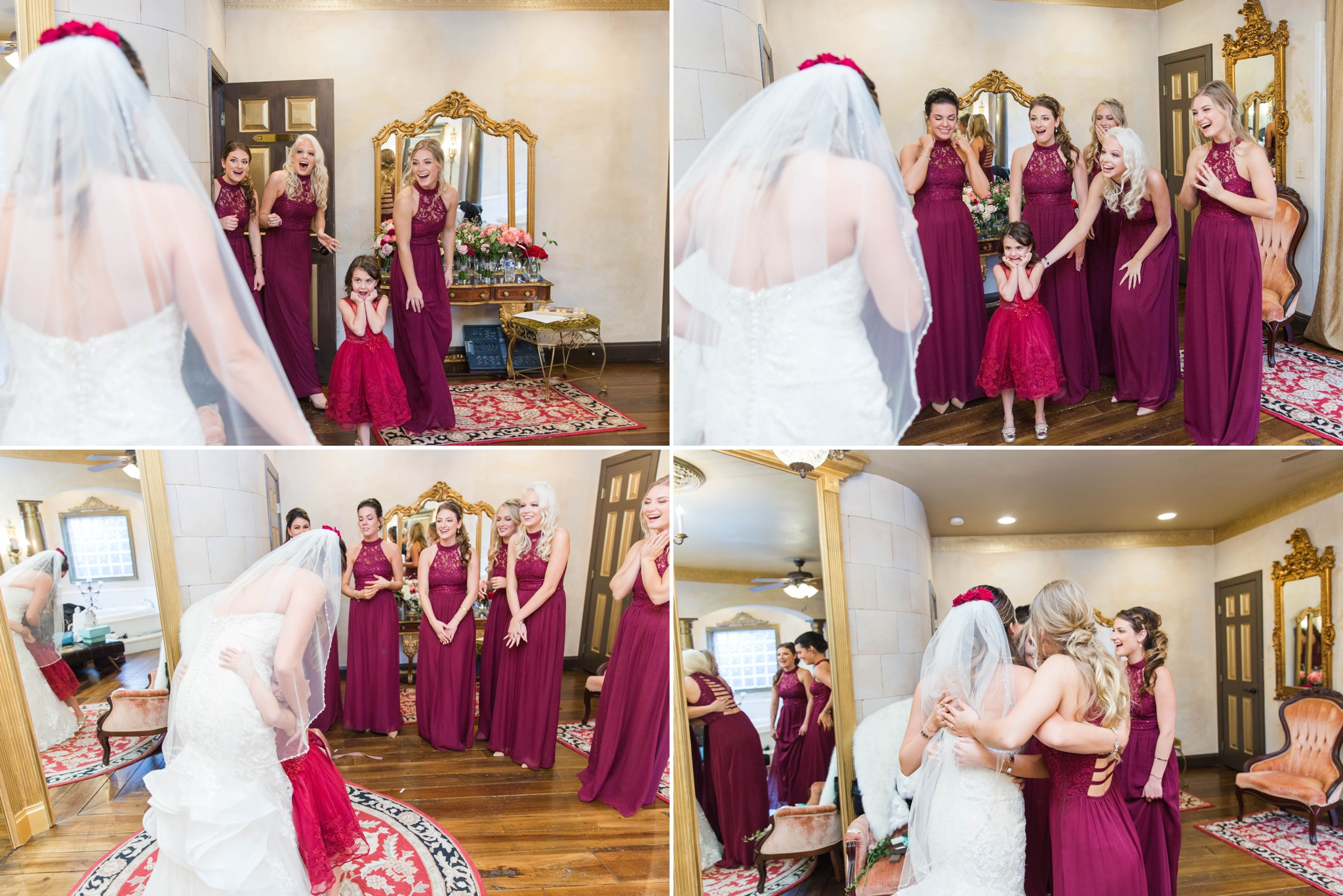 First look of Bride and Bridesmaids - Honolulu Oahu Hawaii Wedding Photographer