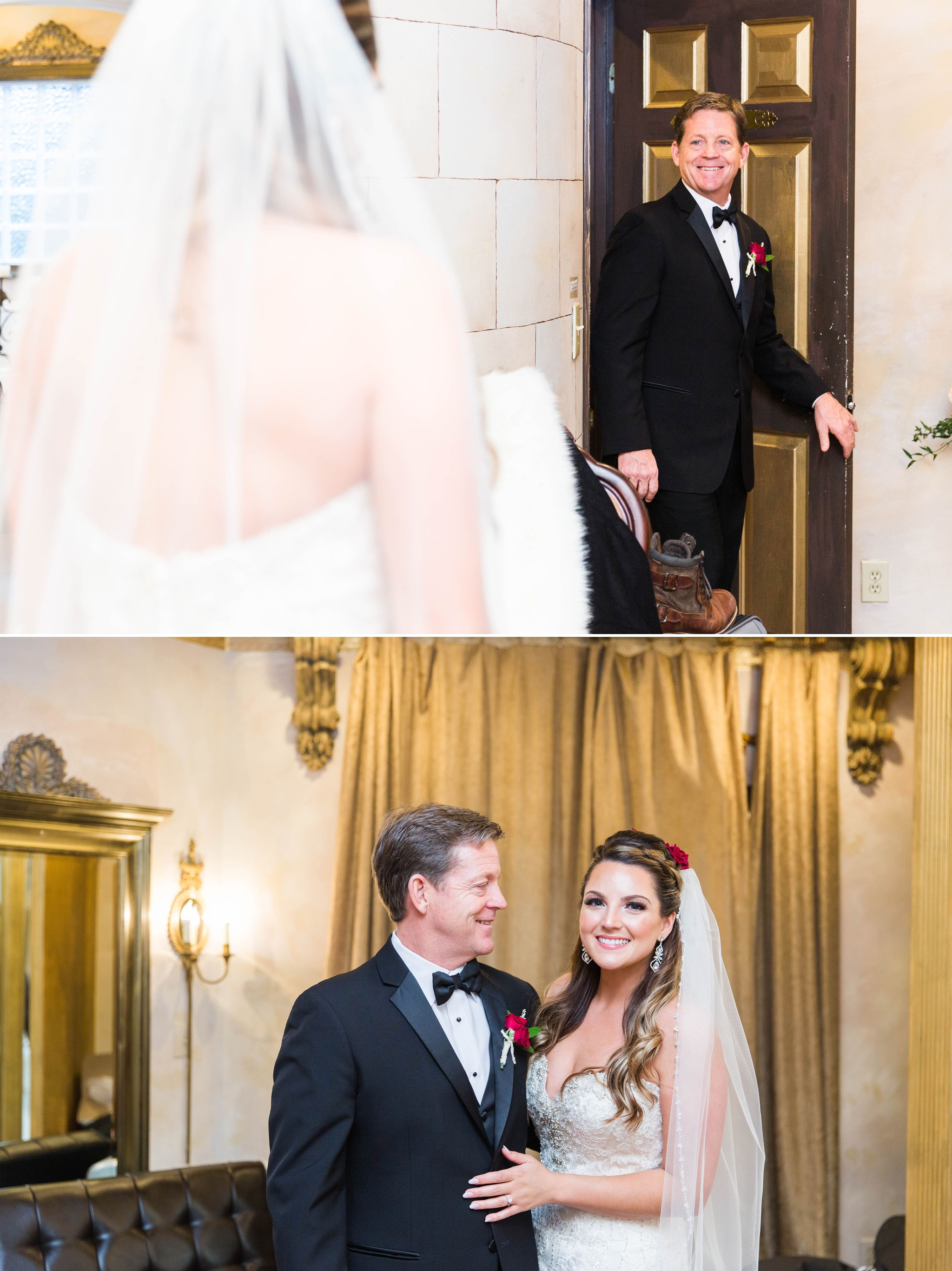 first look between bride and her dad - Honolulu Oahu Hawaii Wedding Photographer
