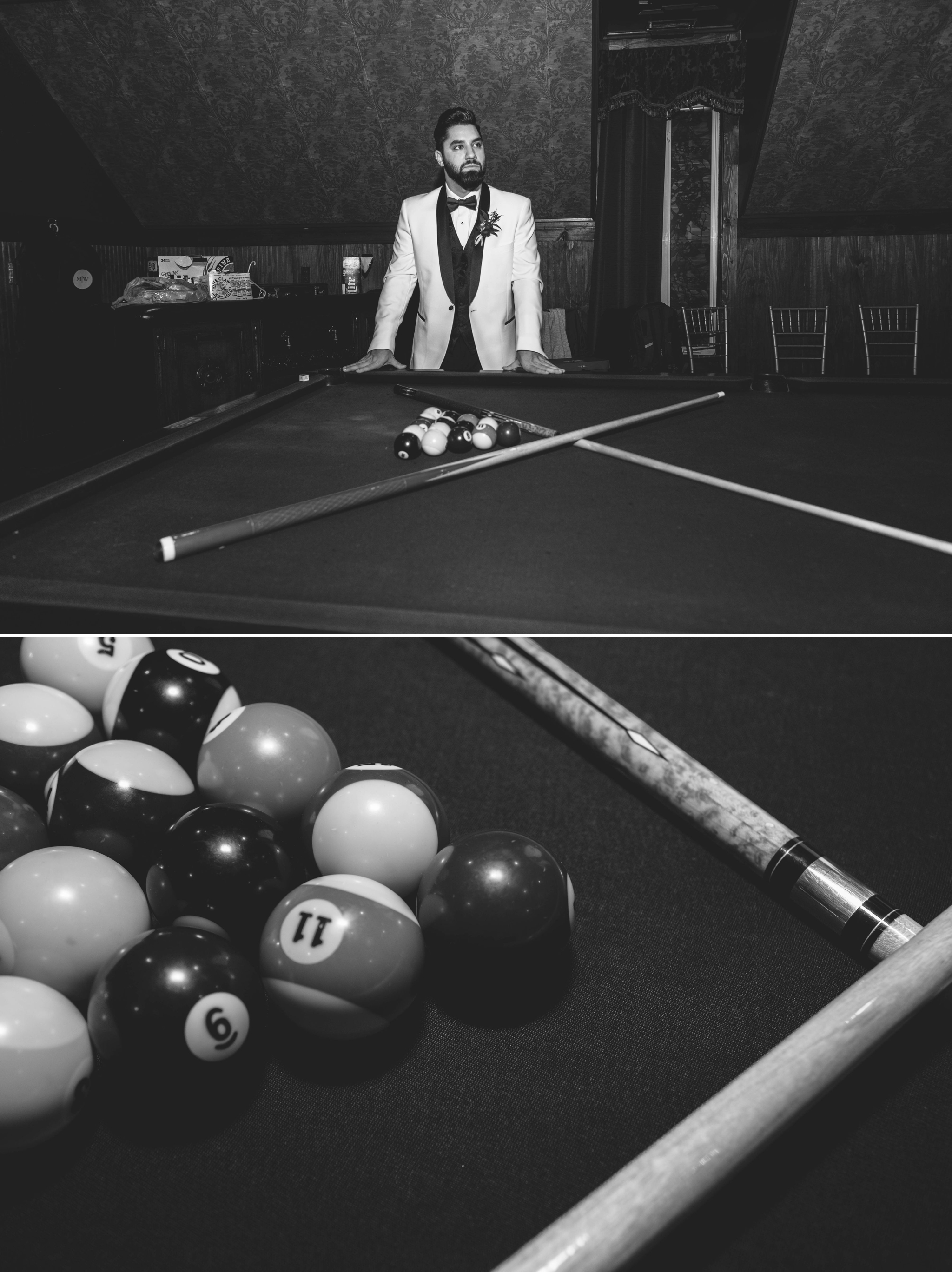 groom with the pool table - Honolulu Oahu Hawaii Wedding Photographer