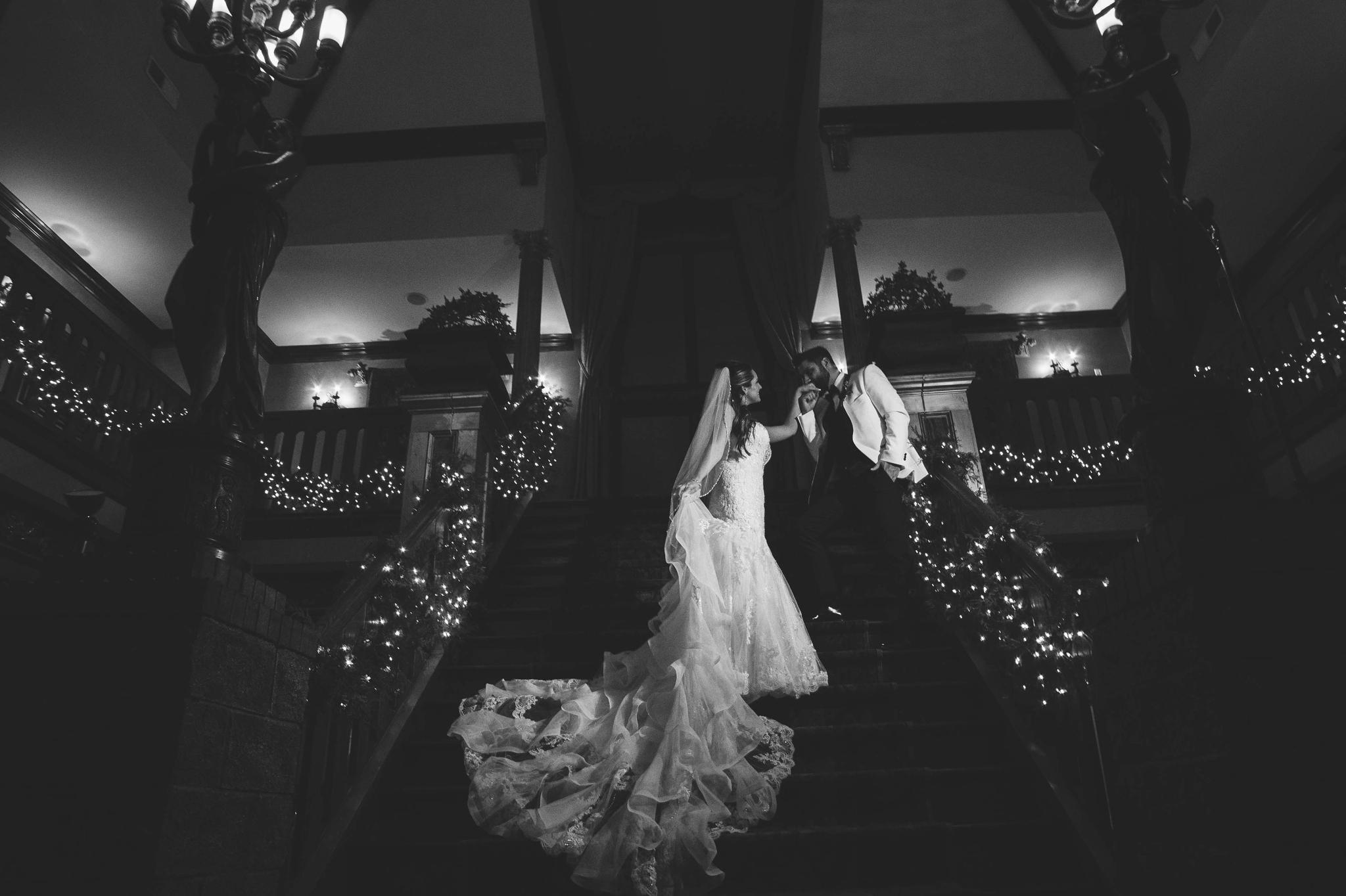 Portraits of the Bride and Groom at night - Honolulu Oahu Hawaii Wedding Photographer