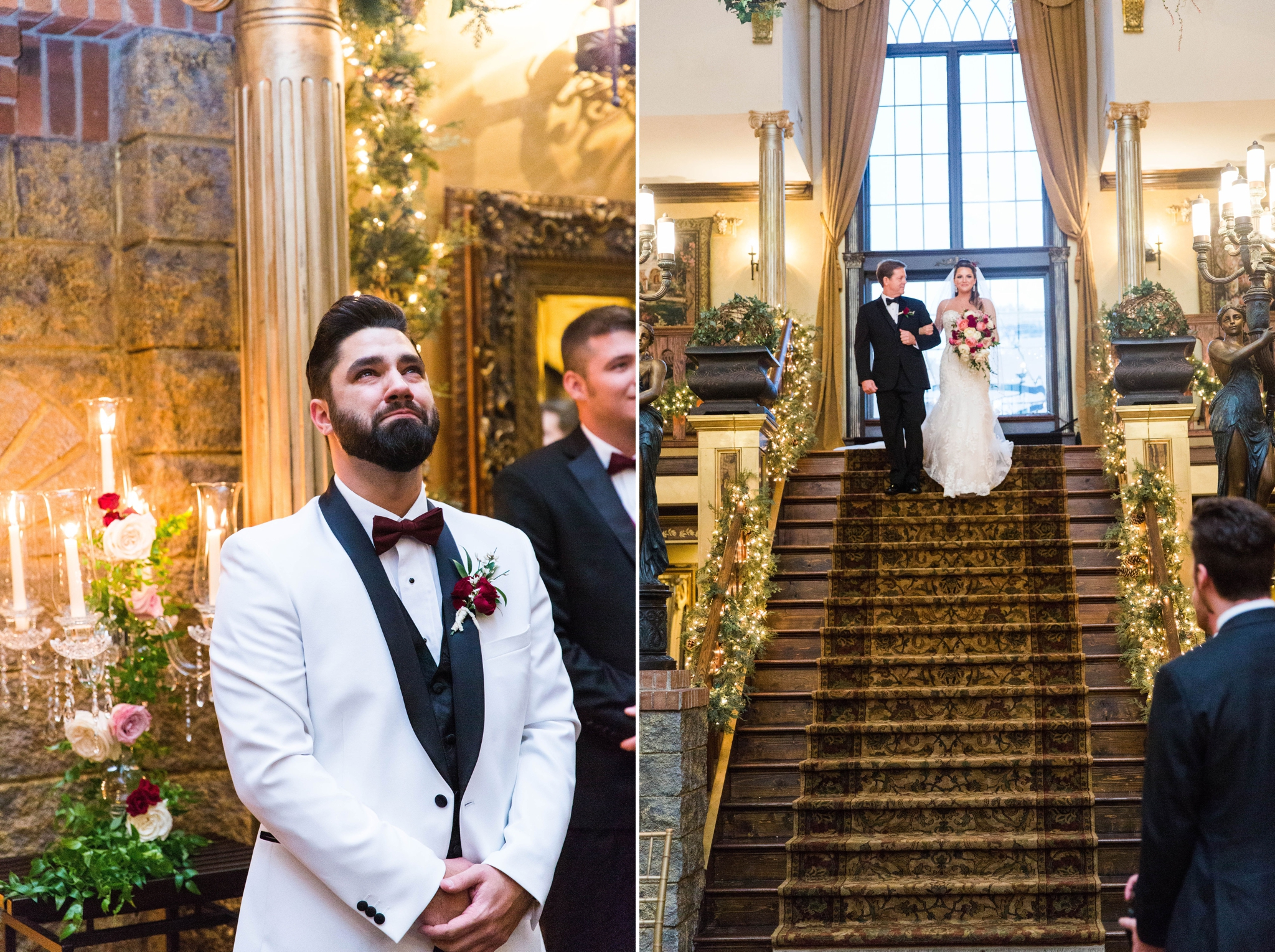 Groom watching his bride walk down the isle - Honolulu Oahu Hawaii Wedding Photographer