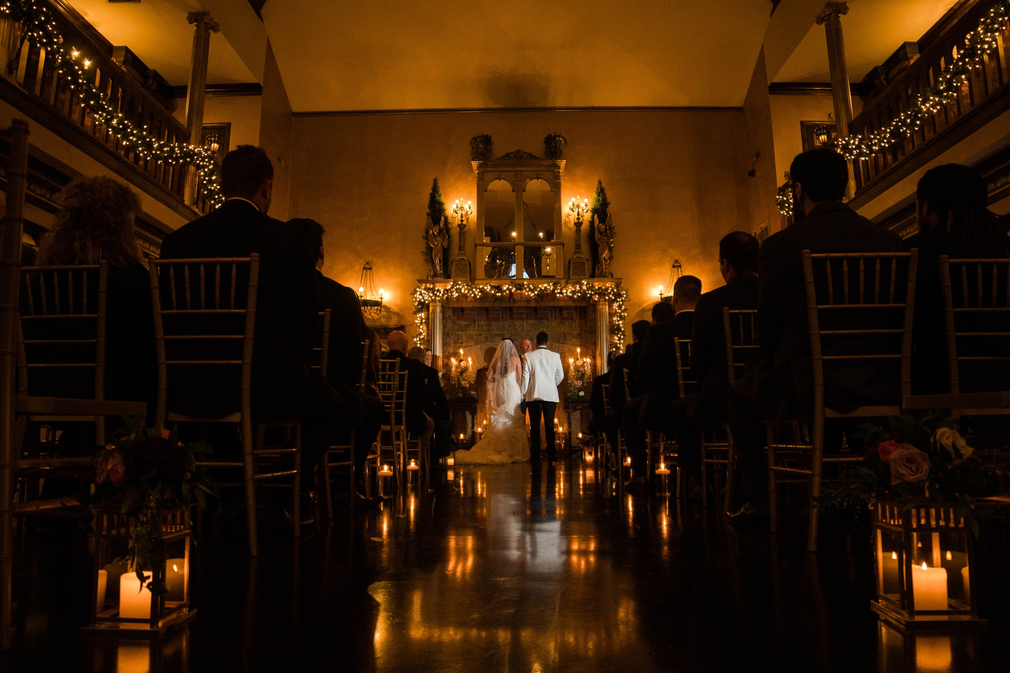 Dark shot of the wedding ceremony - Honolulu Oahu Hawaii Wedding Photographer
