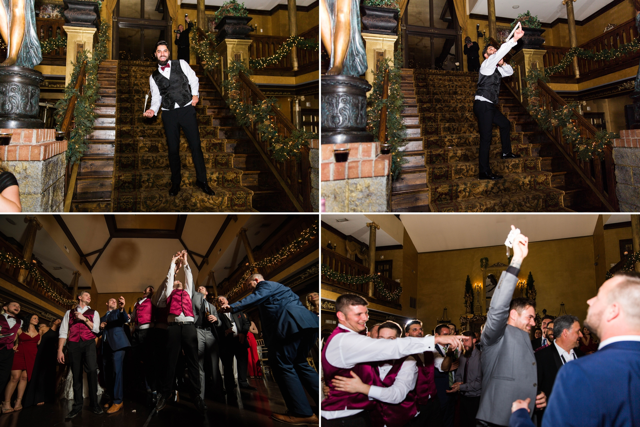 The garter toss with Off Camera Flash OCF Mag Mod - Honolulu Oahu Hawaii Wedding Photographer
