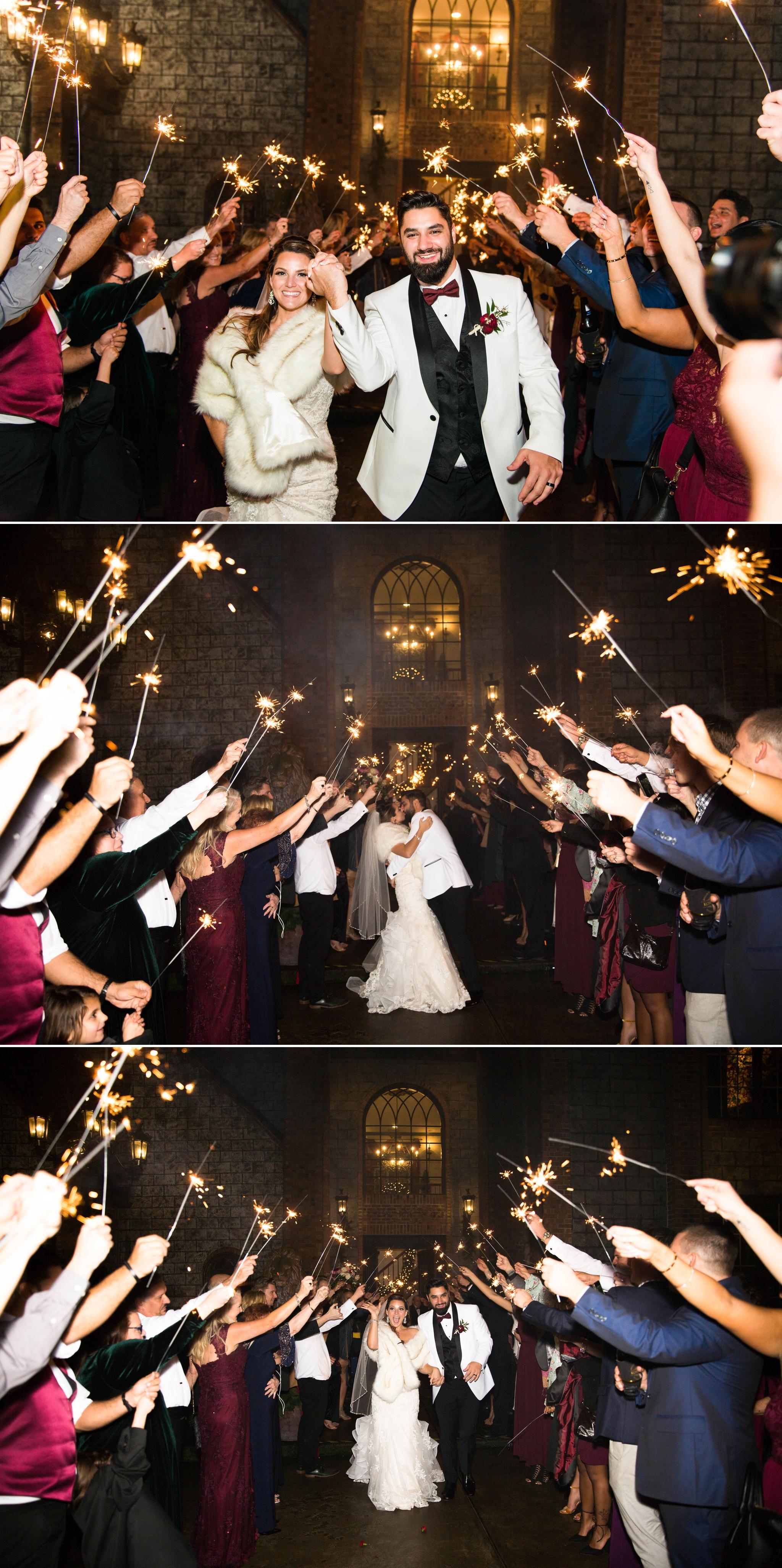 Sparkler Exit shot with Off Camera Flash OCF Mag Mod - Honolulu Oahu Hawaii Wedding Photographer