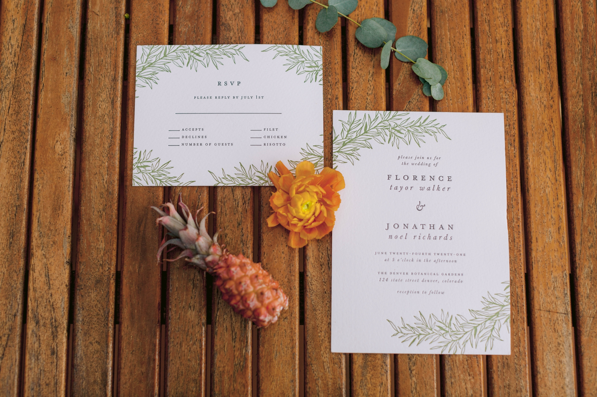 Invitation Suite - Ana + Elijah - Wedding at Loulu Palm in Haleiwa, HI - Oahu Hawaii Wedding Photographer - #hawaiiweddingphotographer #oahuweddings #hawaiiweddings