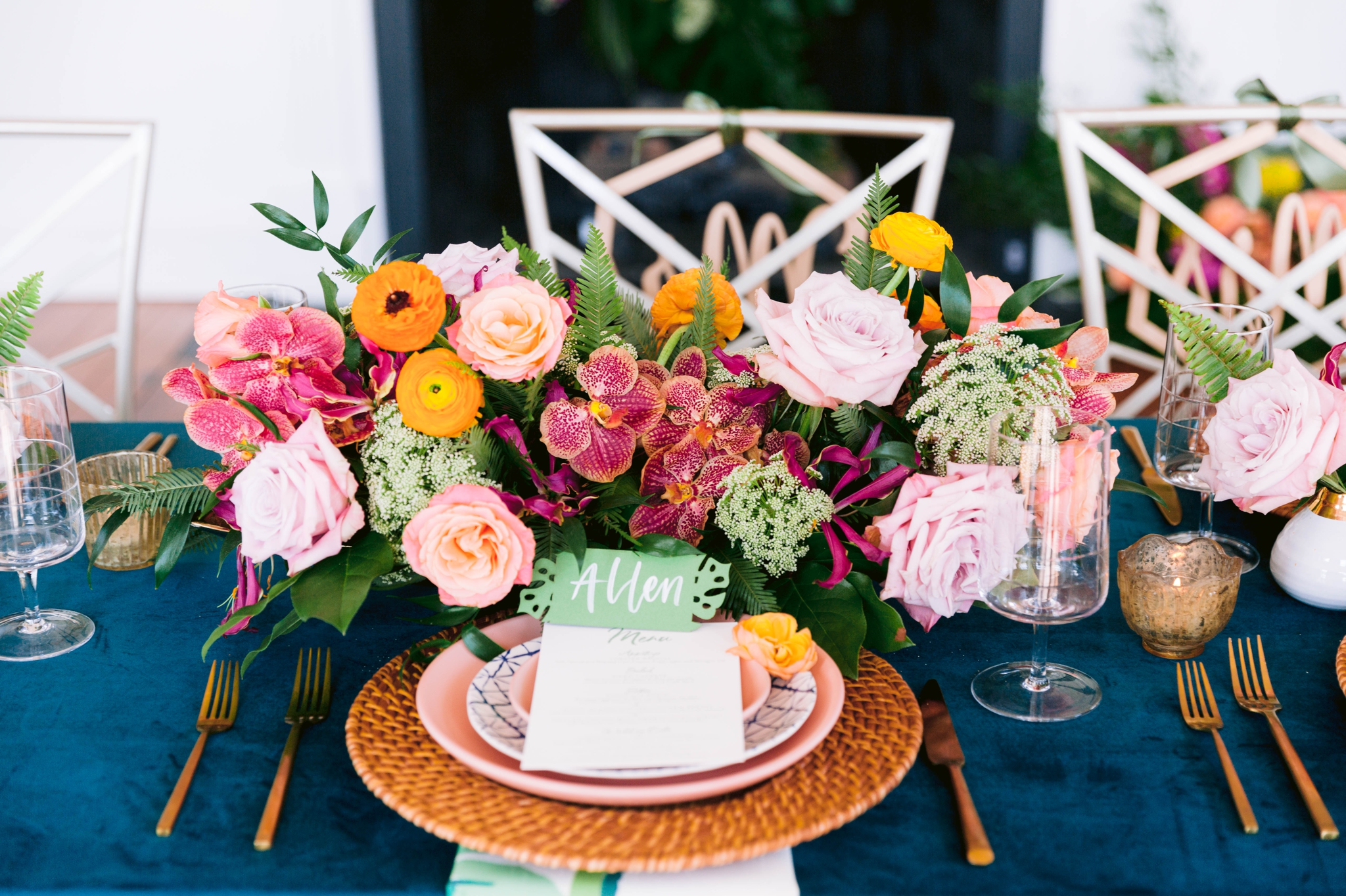 Navy, Green, Gold and Berry colored Tropical Wedding Inspiration for your Wedding in Hawaii! - Honolulu, Oahu, Hawaii Photographer