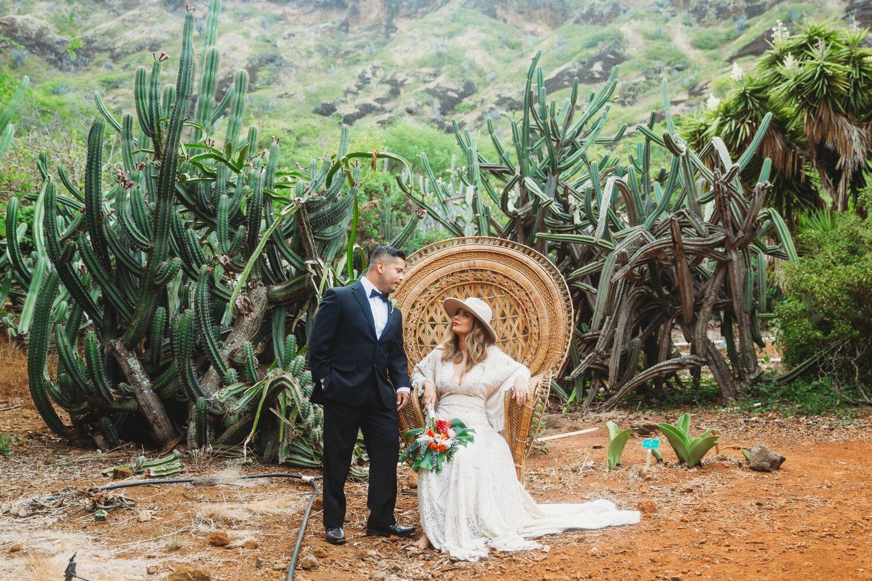 Boho Cactus Elopement - Honolulu, Koko Crater Botanical Garden - Oahu Hawaii Wedding Photographer 2.jpg