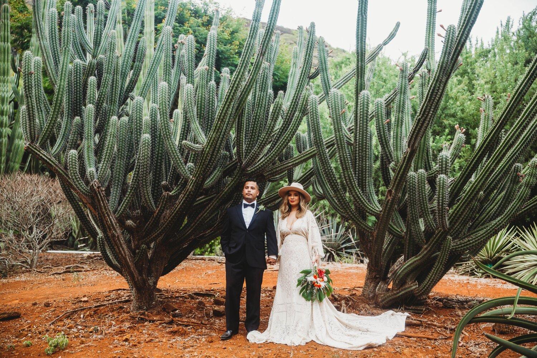 Boho Cactus Elopement - Honolulu, Koko Crater Botanical Garden - Oahu Hawaii Wedding Photographer 5.jpg