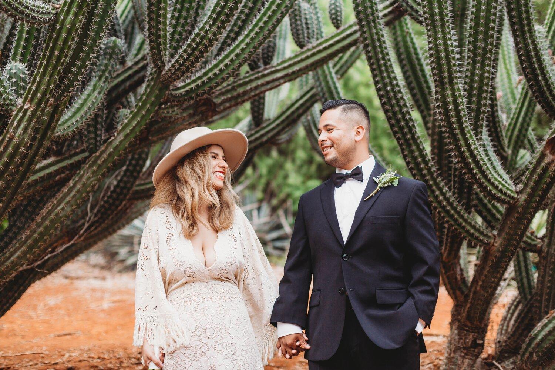 Boho Cactus Elopement - Honolulu, Koko Crater Botanical Garden - Oahu Hawaii Wedding Photographer 7.jpg