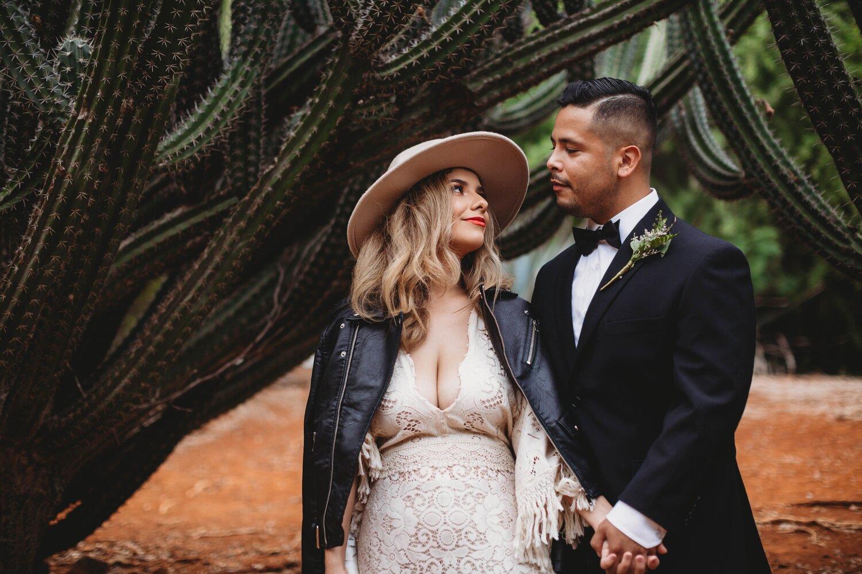 Boho Cactus Elopement - Honolulu, Koko Crater Botanical Garden - Oahu Hawaii Wedding Photographer 8.jpg