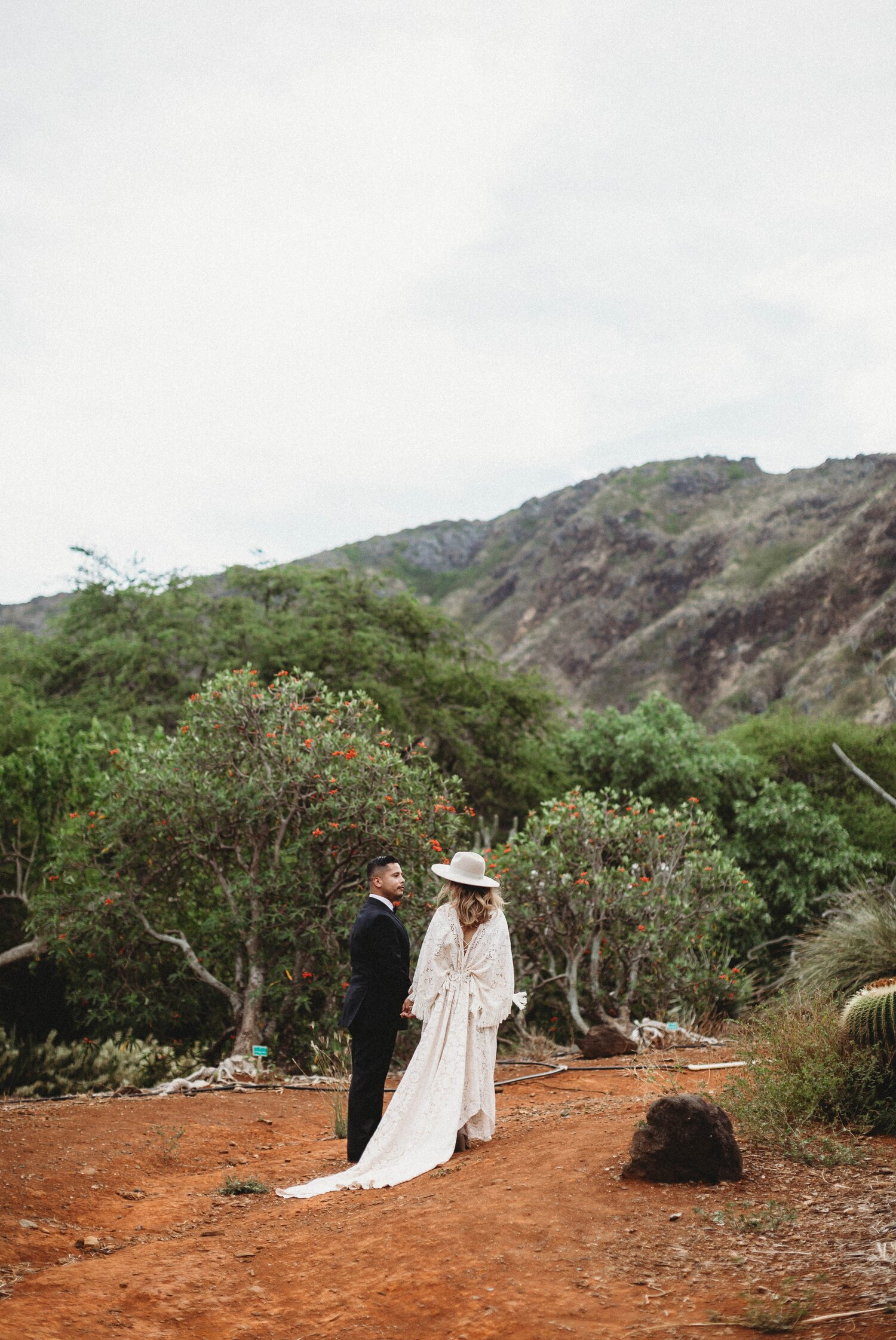 Boho Cactus Elopement - Honolulu, Koko Crater Botanical Garden - Oahu Hawaii Wedding Photographer 13.jpg