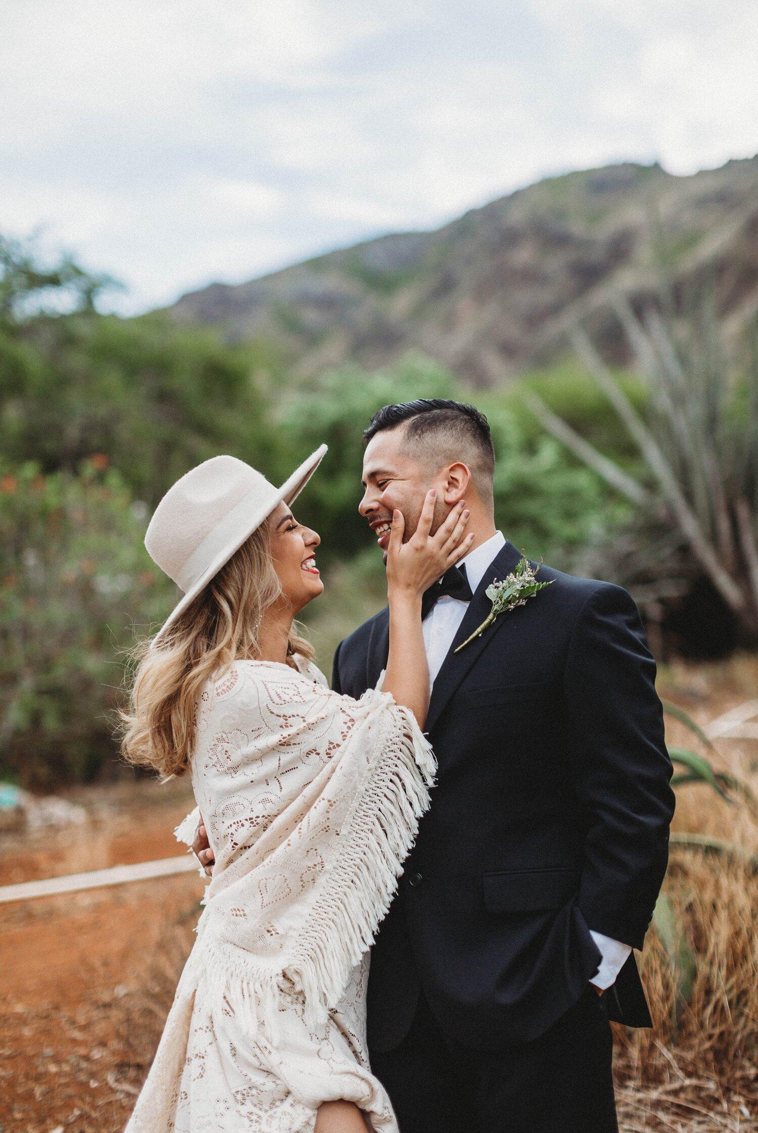 Boho Cactus Elopement - Honolulu, Koko Crater Botanical Garden - Oahu Hawaii Wedding Photographer 15.jpg