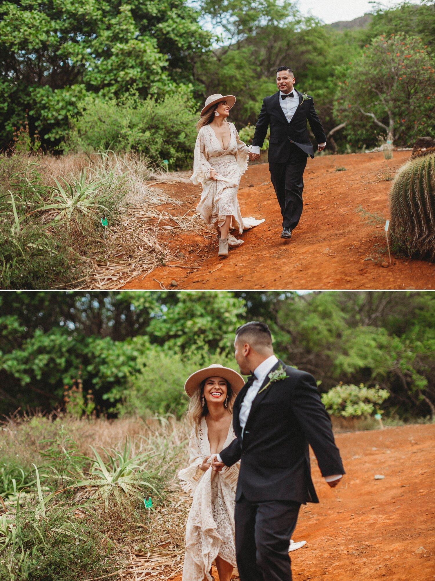 Boho Cactus Elopement - Honolulu, Koko Crater Botanical Garden - Oahu Hawaii Wedding Photographer 34.jpg