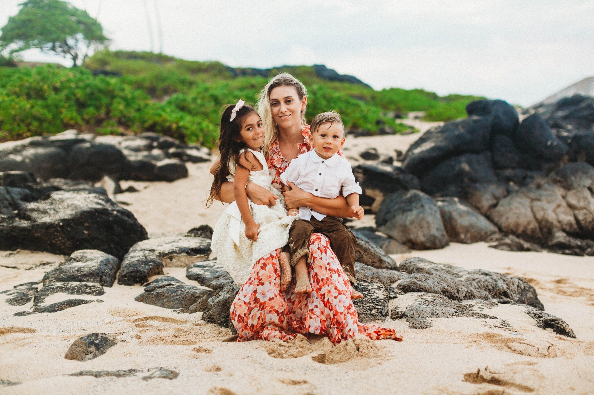 Makapu'u Beach Park Mommy and me Photography Session - Oahu Hawaii Family Photographer