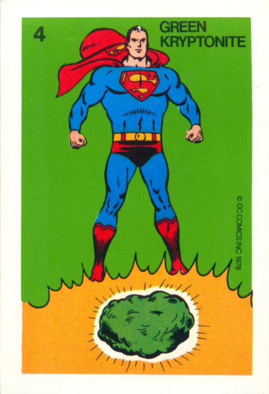 Image Credit:  Superman Card Game by Whitman (1978) - Green Kryptonite  by  Mark Anderson  via  CC by 2.0