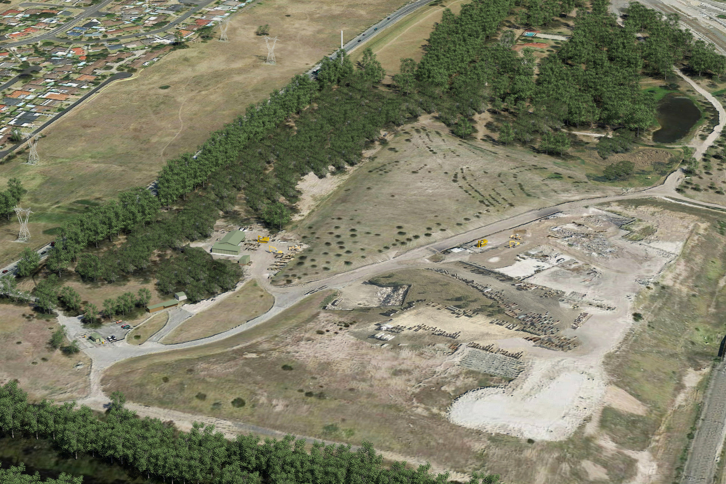 North East view of the Glenfield Waste Site prior to development of the Materials Recycling Facility