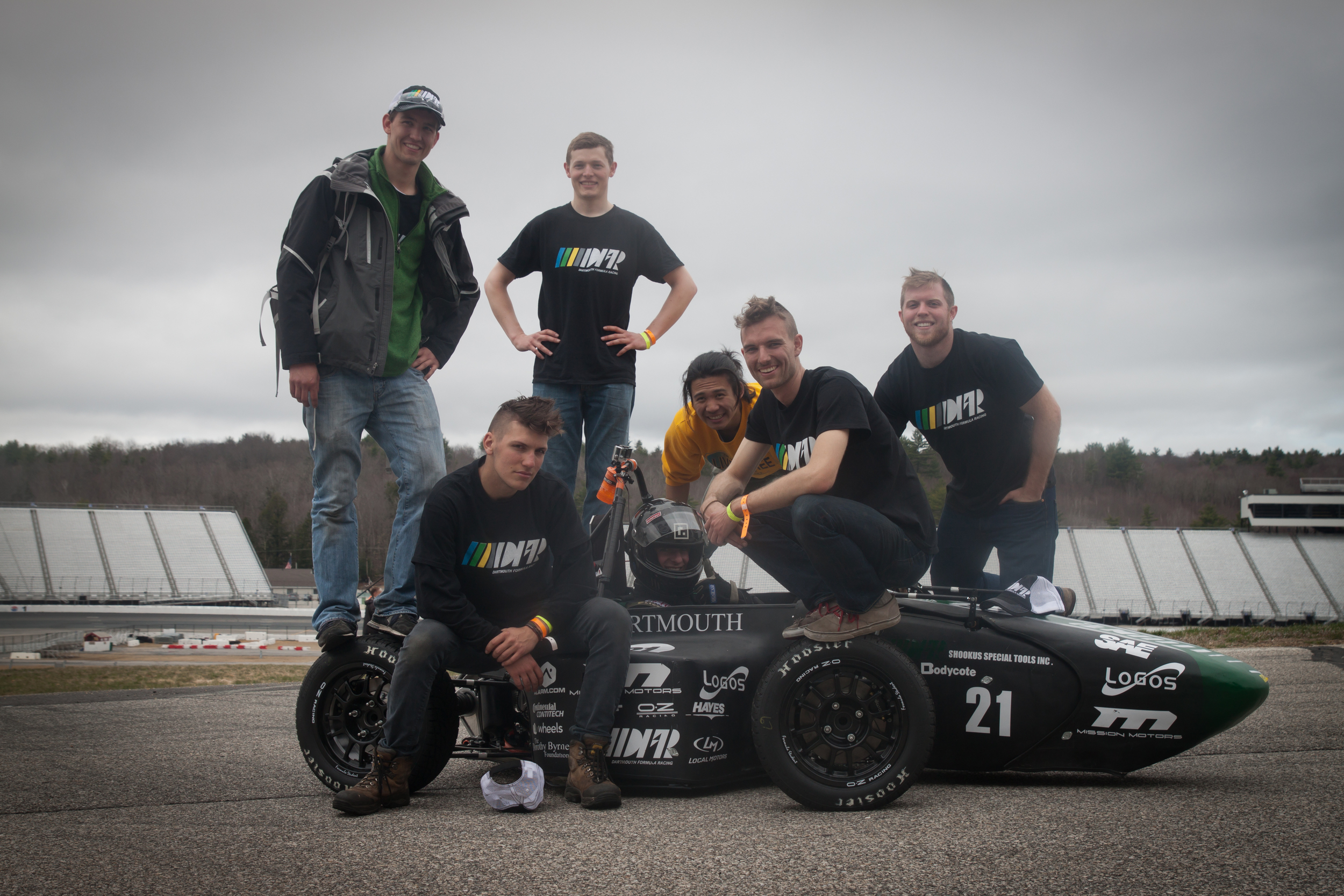 Post-competition at the New Hampshire Motor Speedway