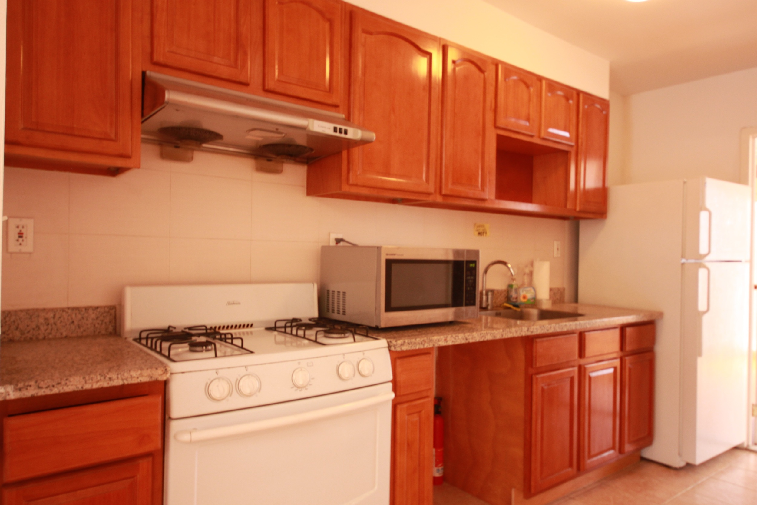 Kitchen layout for 3rd floor units only
